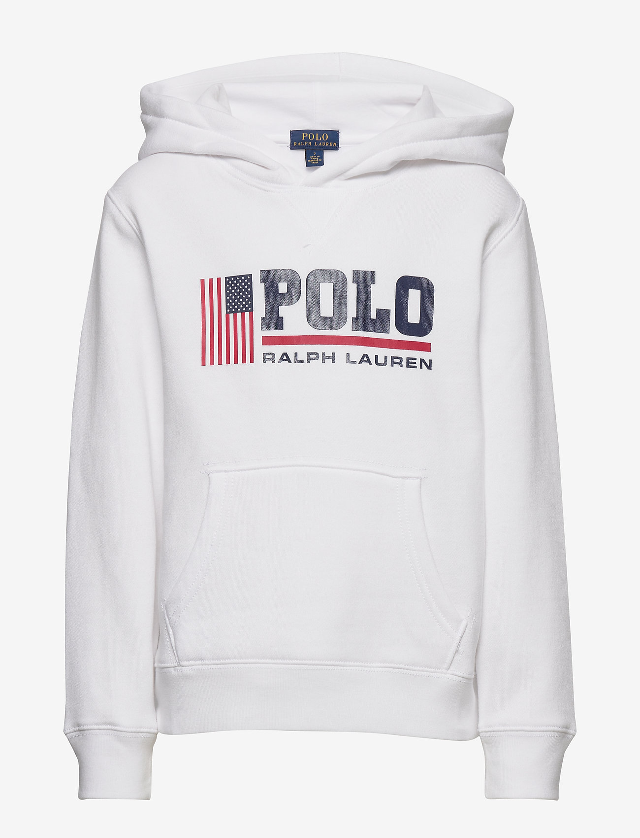 Ralph Lauren Kids - Flag Logo Fleece Hoodie - pulls à capuche - white - 0