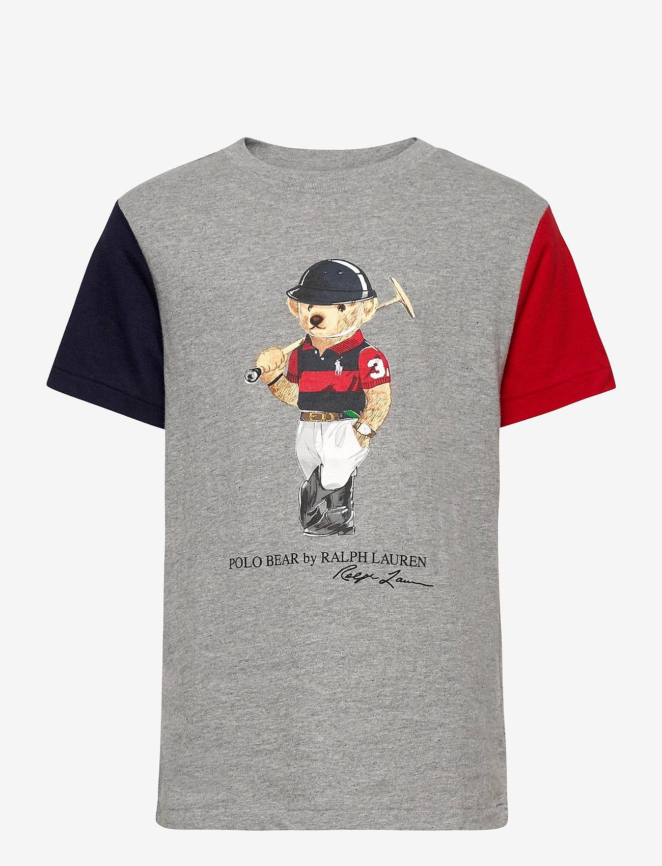 Ralph Lauren Kids - 26/1'S JERSEY-SS CN-TP-TSH - short-sleeved - andover heather m - 0