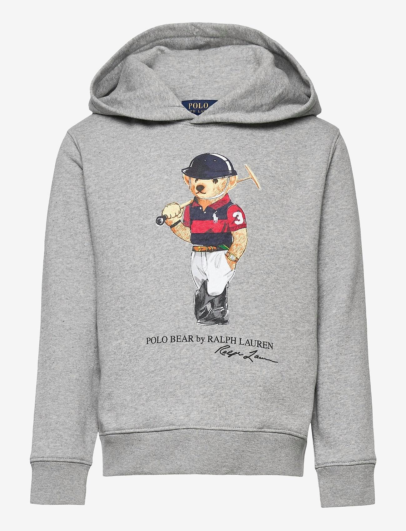 Ralph Lauren Kids - Polo Bear Fleece Hoodie - kapuzenpullover - andover heather - 0