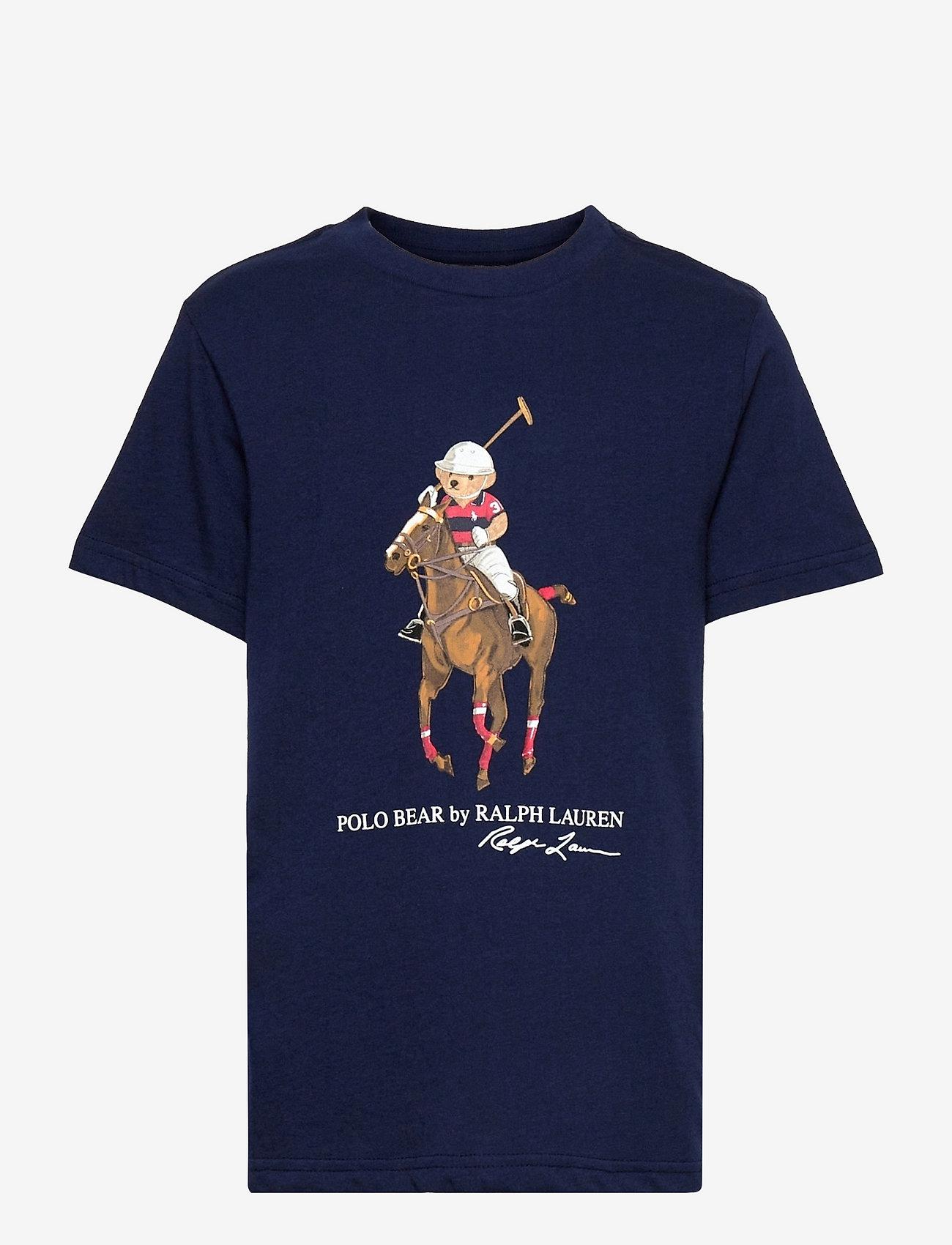 Ralph Lauren Kids - Polo Bear & Big Pony Cotton Tee - pattern short-sleeved t-shirt - french navy - 0
