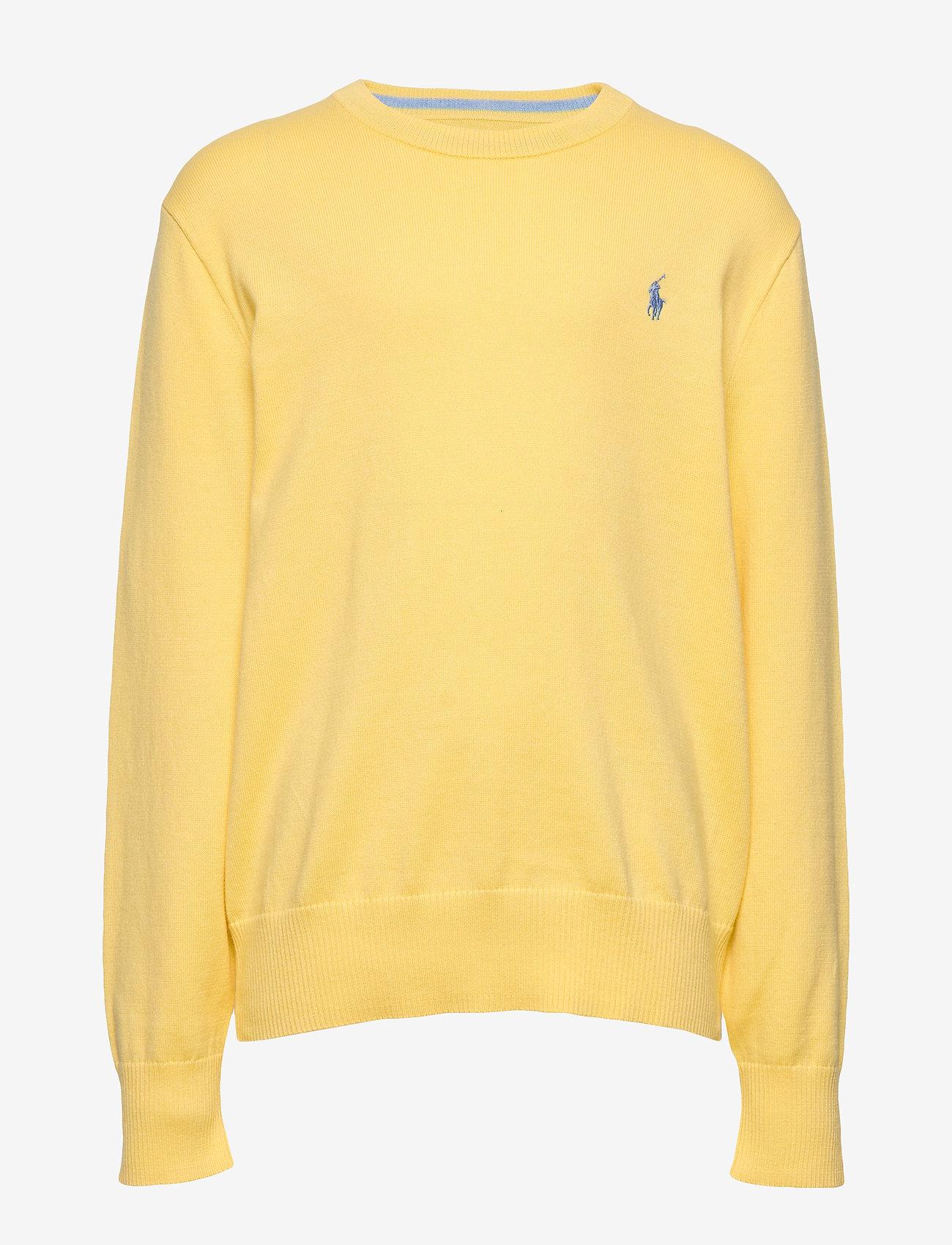 Ralph Lauren Kids - Cotton Crewneck Sweater - knitwear - oasis yellow - 0