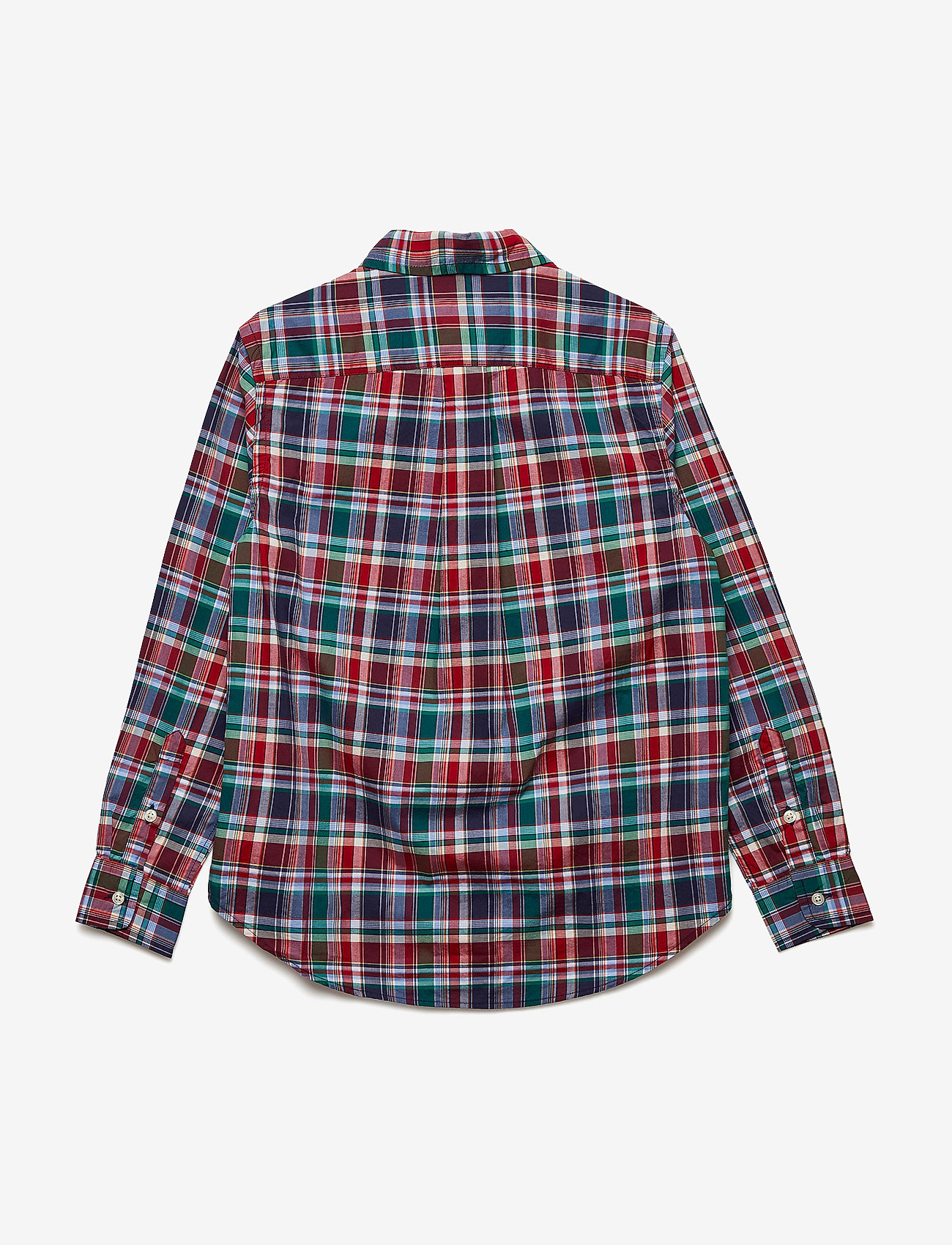 Ralph Lauren Kids Plaid Stretch Cotton Shirt - Överdelar Red Multi