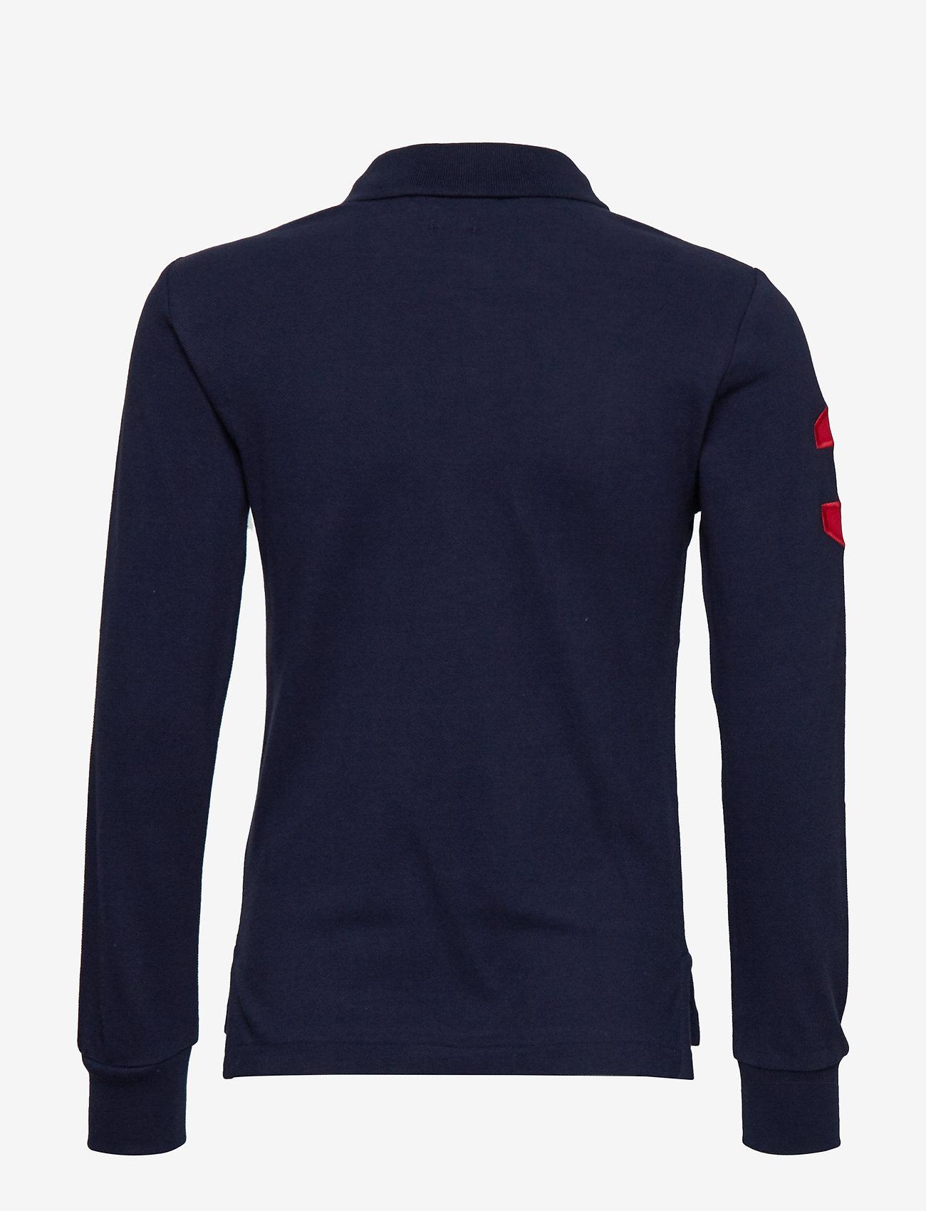 Ralph Lauren Kids - Slim Fit Cotton Mesh Polo - polo shirts - french navy - 1