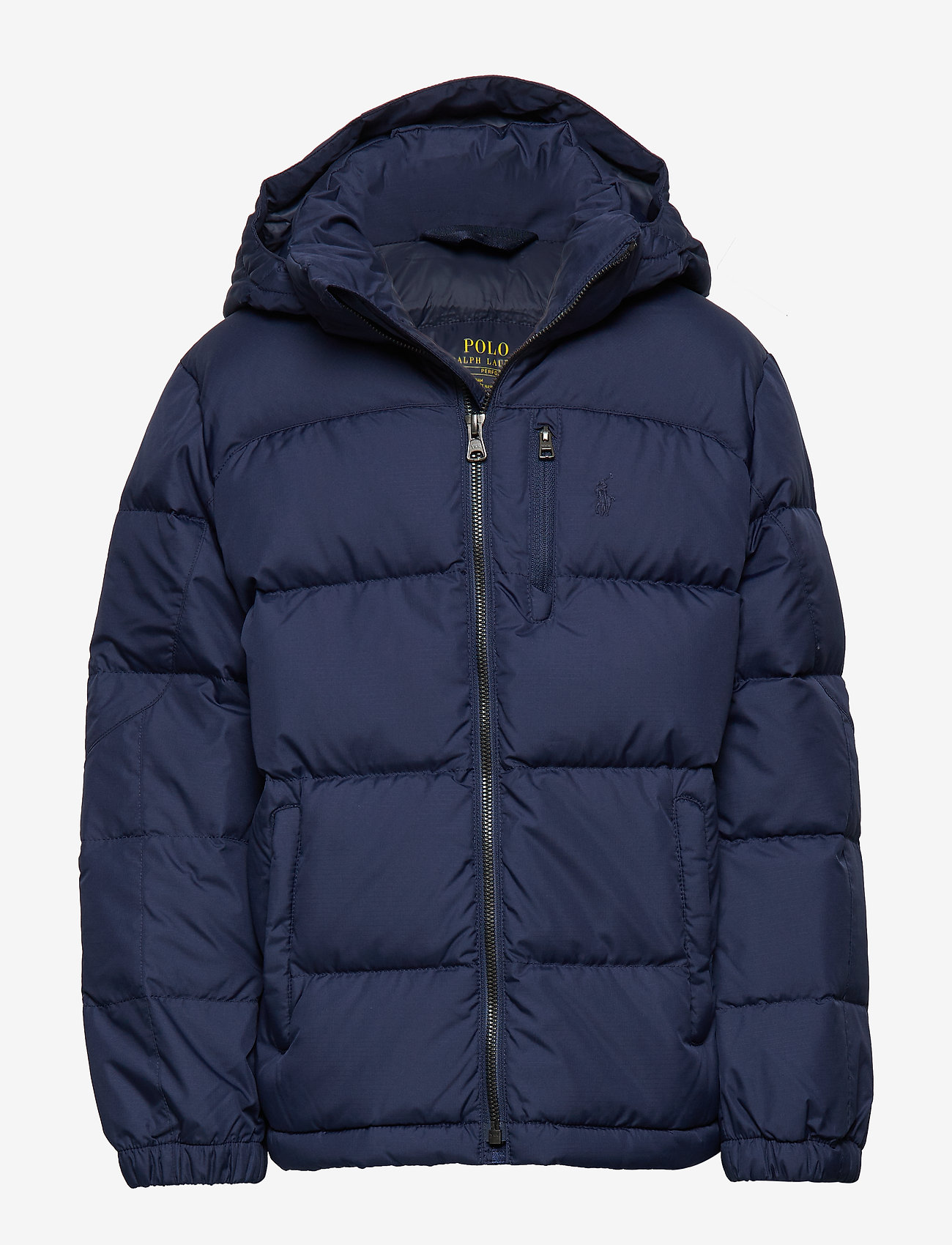 Ralph Lauren Kids - Hooded Down Jacket - untuva- & toppatakit - french navy multi