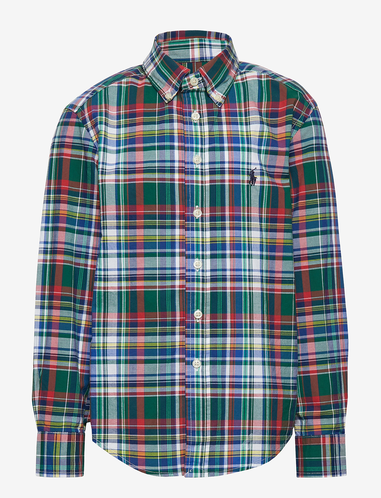 Ralph Lauren Kids - Plaid Cotton Poplin Shirt - paidat - green/red multi