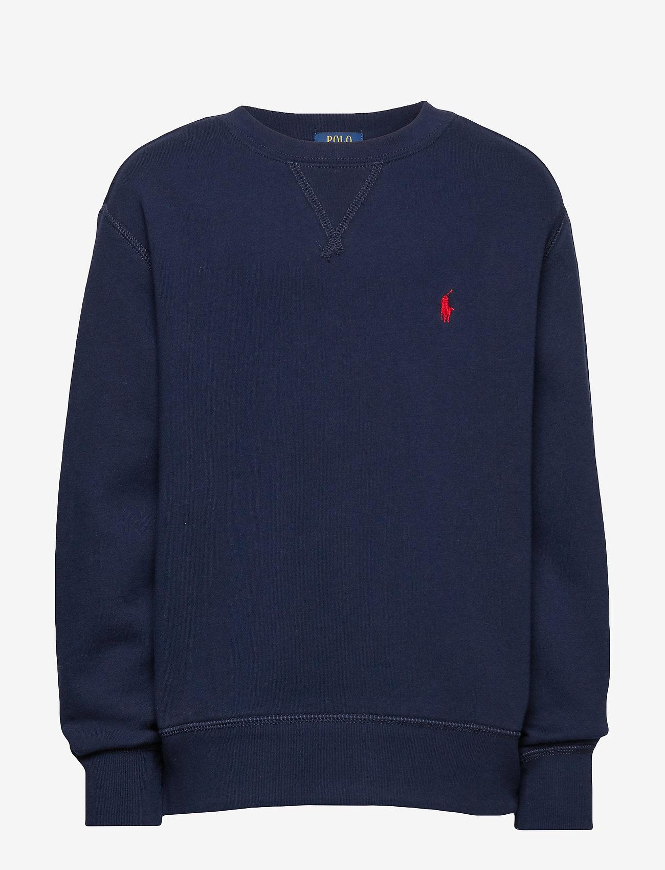Ralph Lauren Kids - Cotton-Blend-Fleece Sweatshirt - sweatshirts - cruise navy - 0