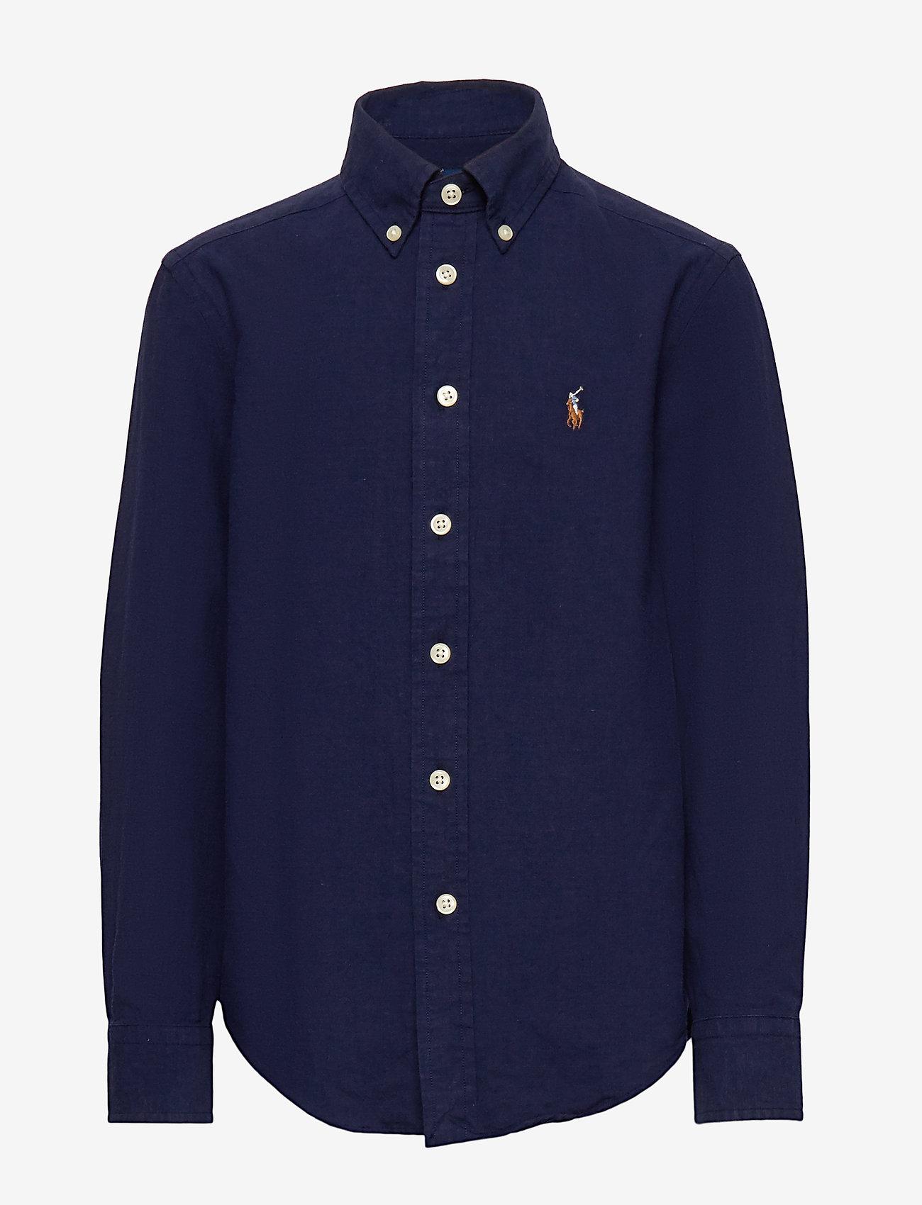 Ralph Lauren Kids - Cotton-Blend Shirt - shirts - newport navy - 0