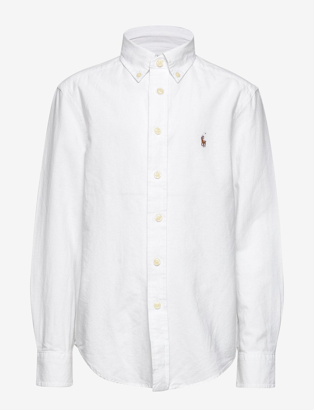 Ralph Lauren Kids - Cotton-Blend Shirt - shirts - white