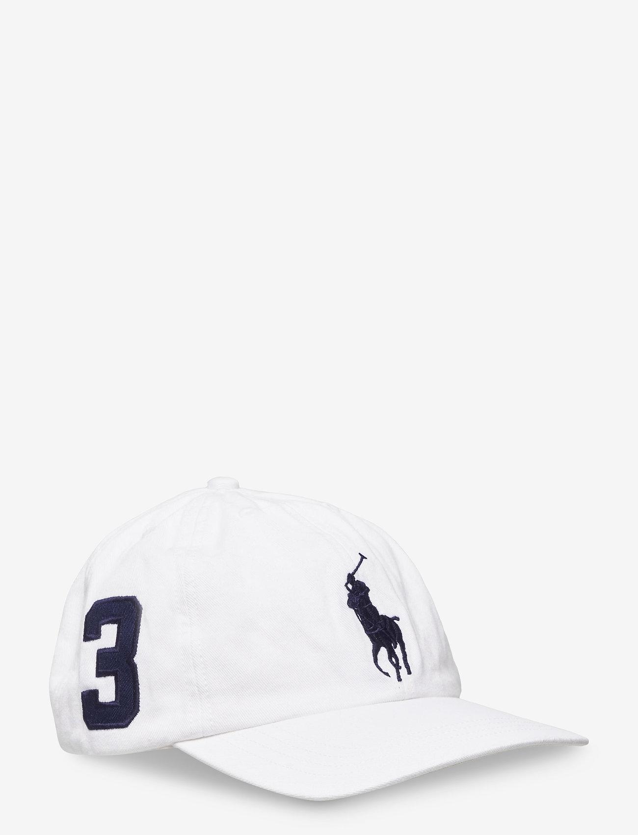 Ralph Lauren Kids - Big Pony Chino Baseball Cap - caps - white - 0
