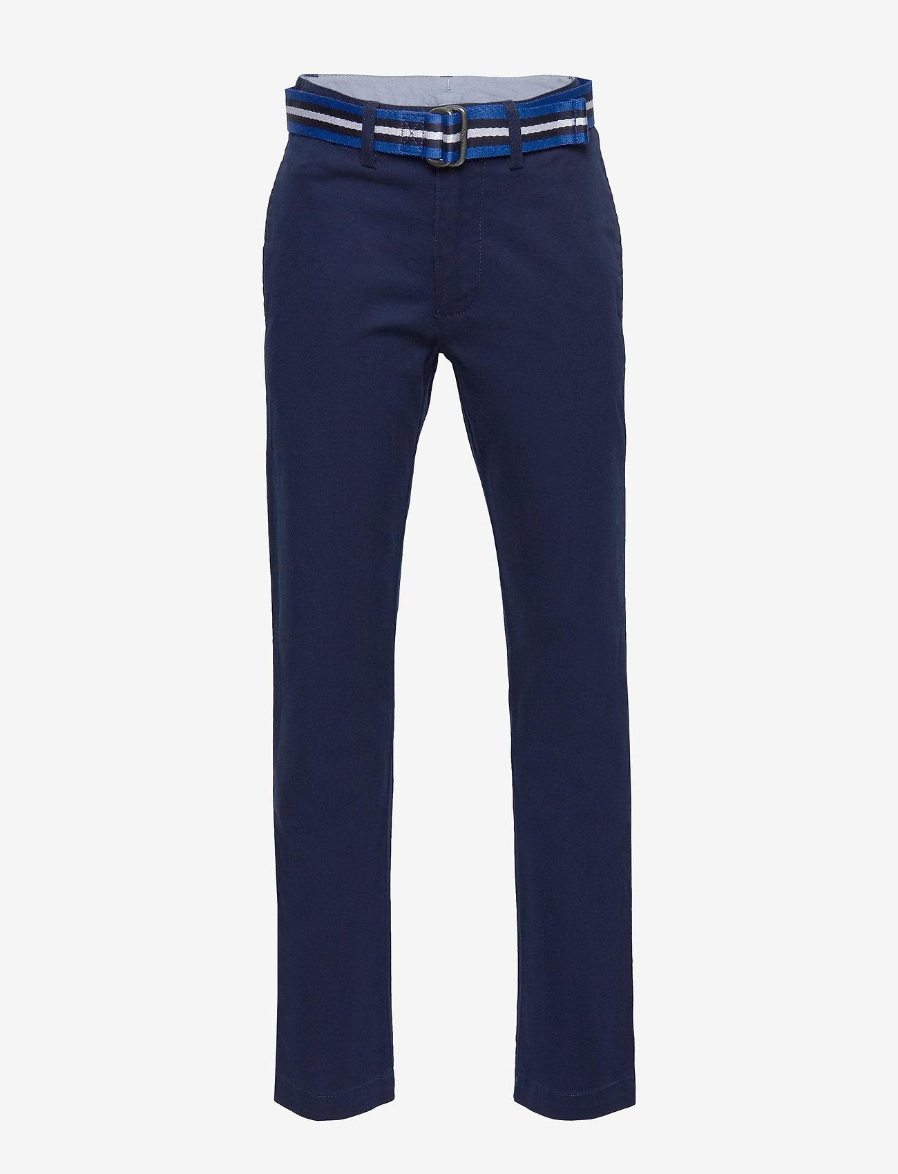 Ralph Lauren Kids - Belted Stretch Skinny Chino - trousers - newport navy - 0