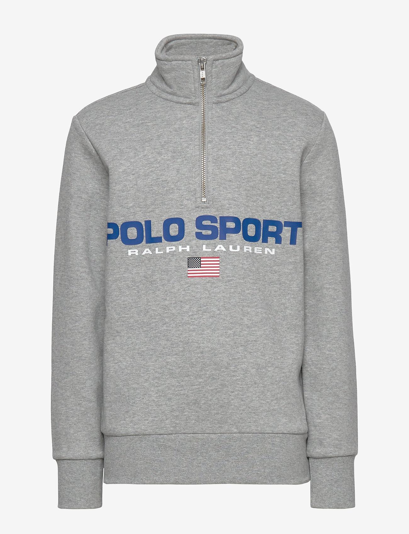 Ralph Lauren Kids - Polo Sport Half-Zip Sweatshirt - sweatshirts - andover heather