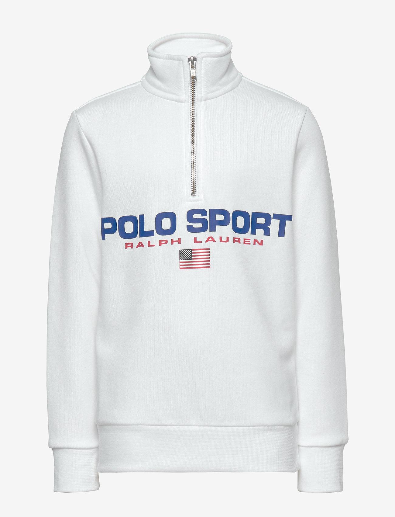 Ralph Lauren Kids - Polo Sport Half-Zip Sweatshirt - sweatshirts - white - 0