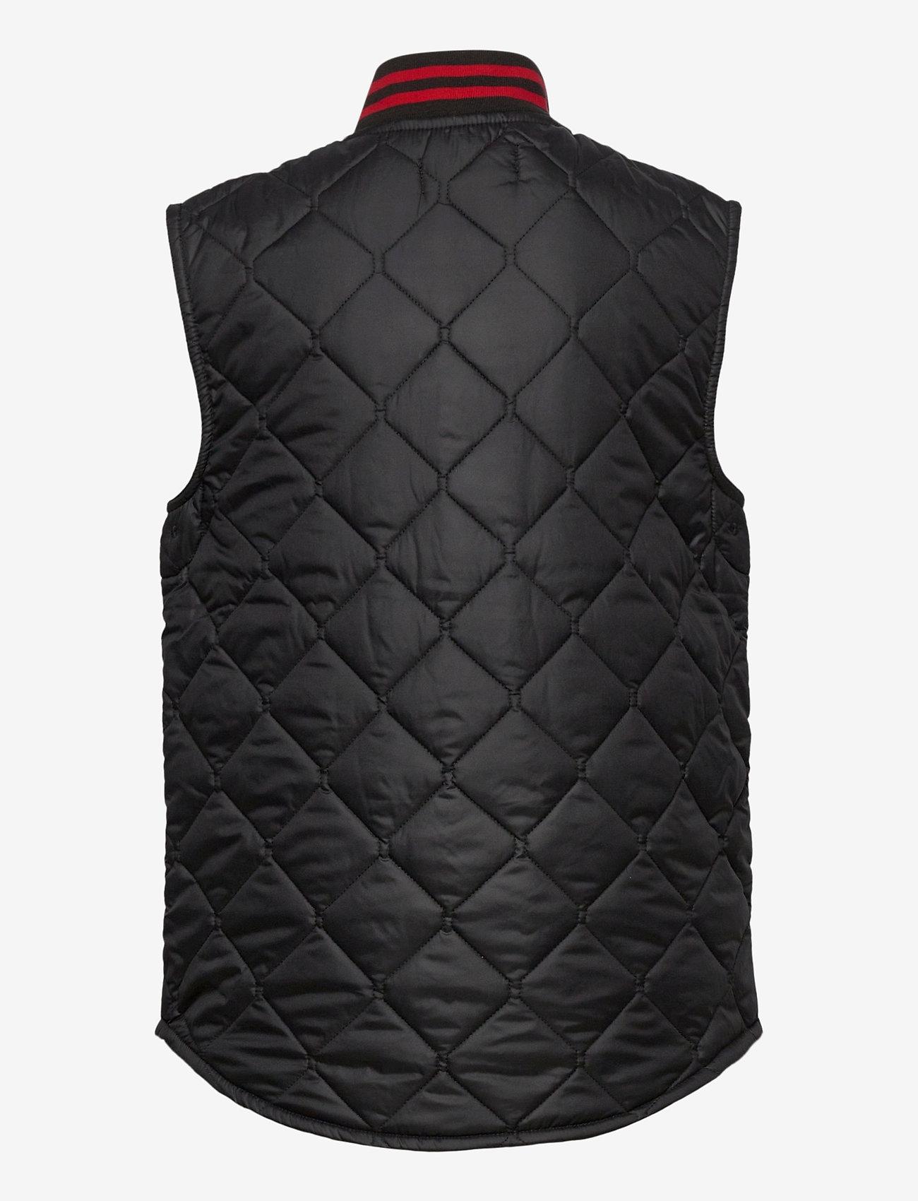 Ralph Lauren Kids - SOLID PENNY-BASBLL VEST-OW-VST - vests - polo black - 1