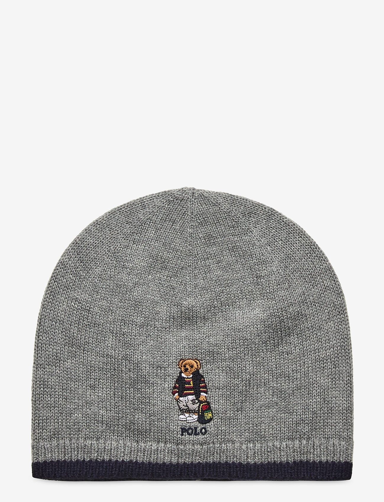 Ralph Lauren Kids - Backpack Bear Merino Hat - hats - league heather - 0