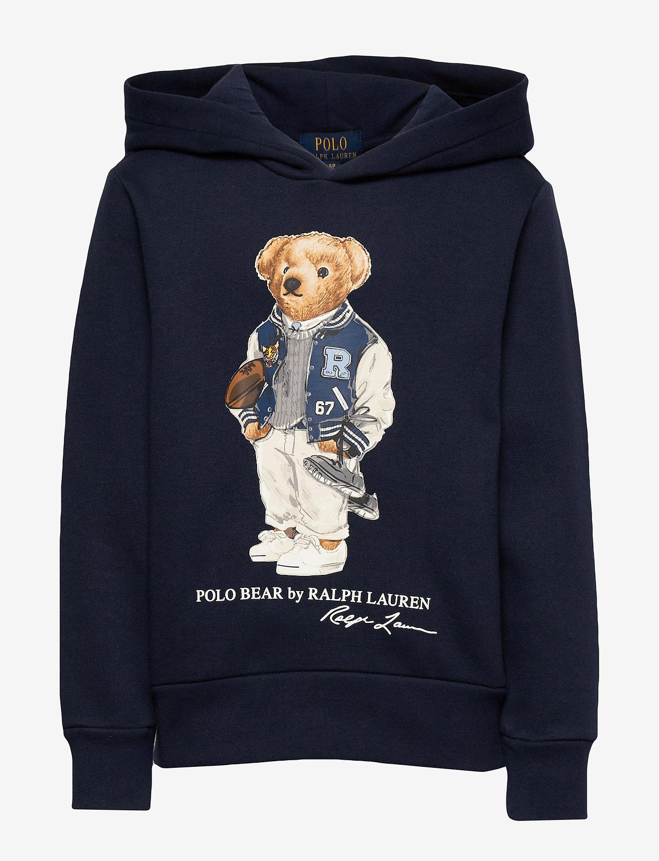 Ralph Lauren Kids - Football Bear Fleece Hoodie - hoodies - newport navy