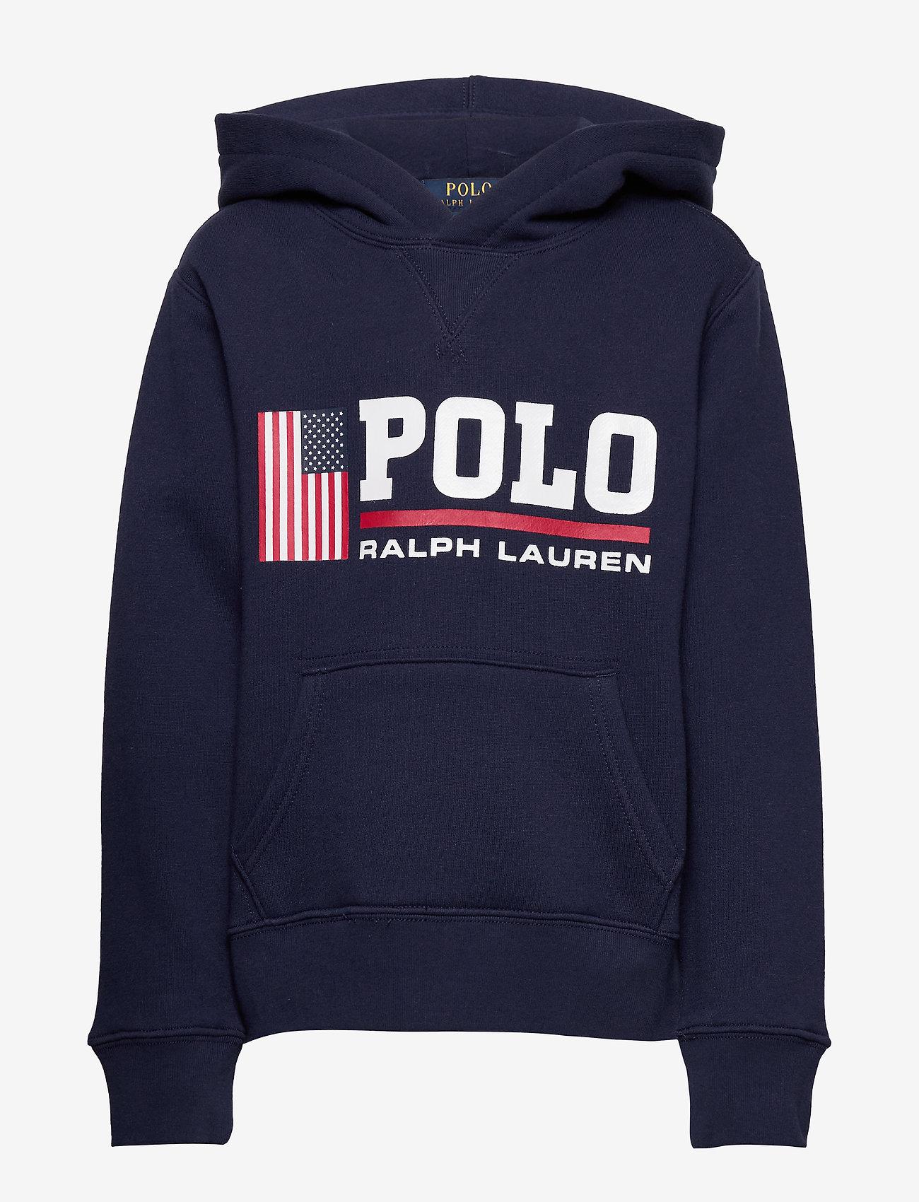Ralph Lauren Kids - Flag Logo Fleece Hoodie - pulls à capuche - newport navy - 0