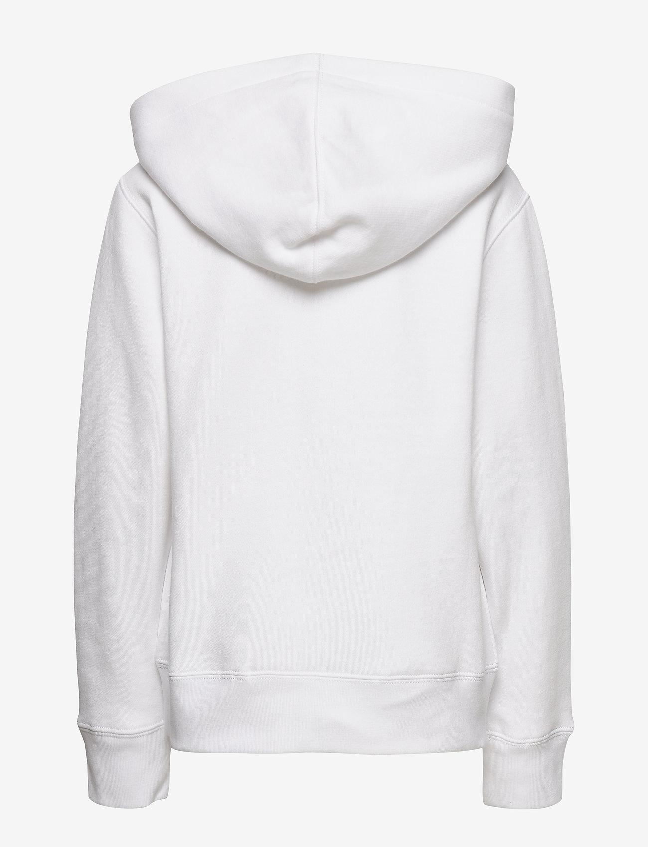 Ralph Lauren Kids - Flag Logo Fleece Hoodie - pulls à capuche - white - 1