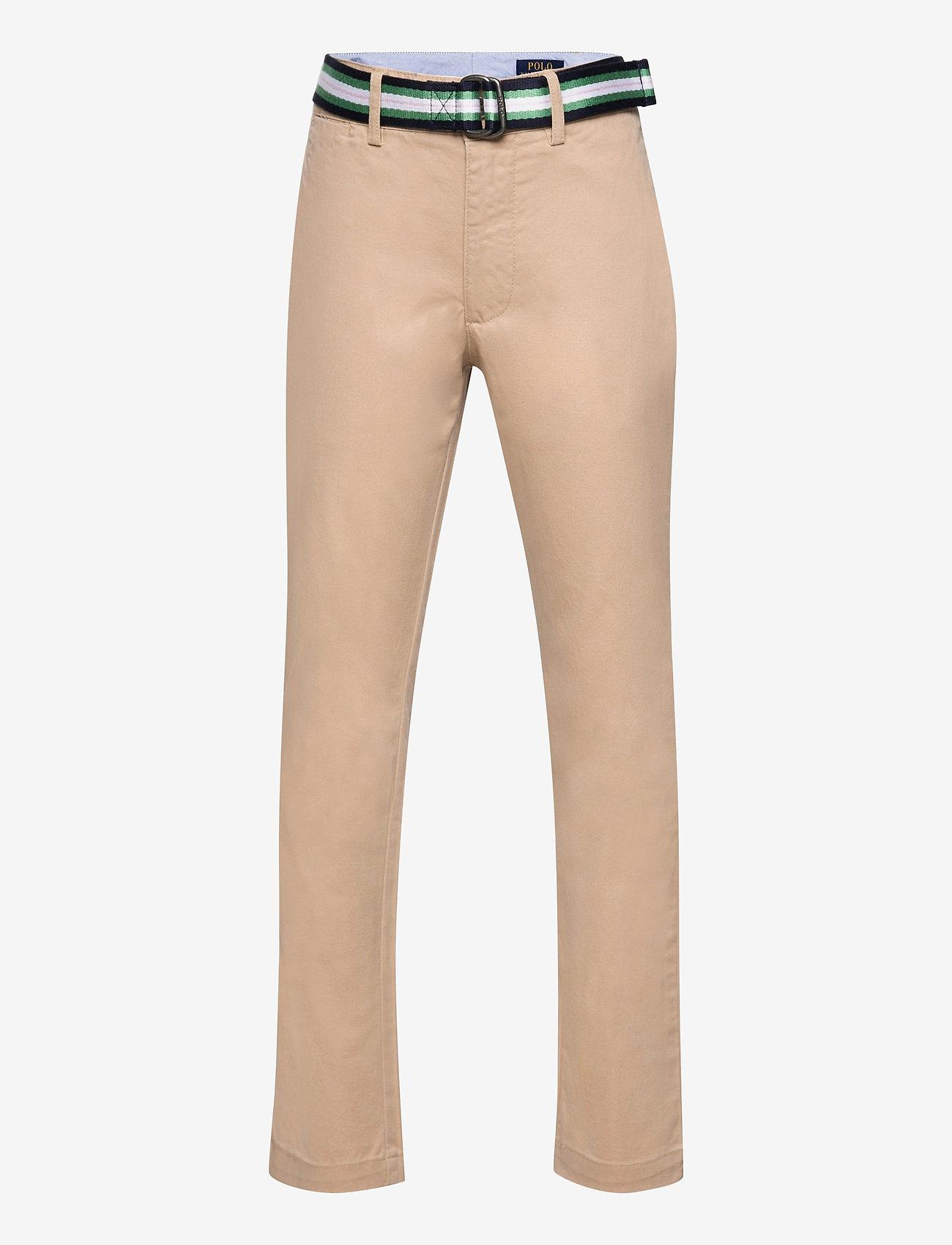 Ralph Lauren Kids - Belted Super Skinny Stretch Chino Pant - trousers - classic khaki - 0