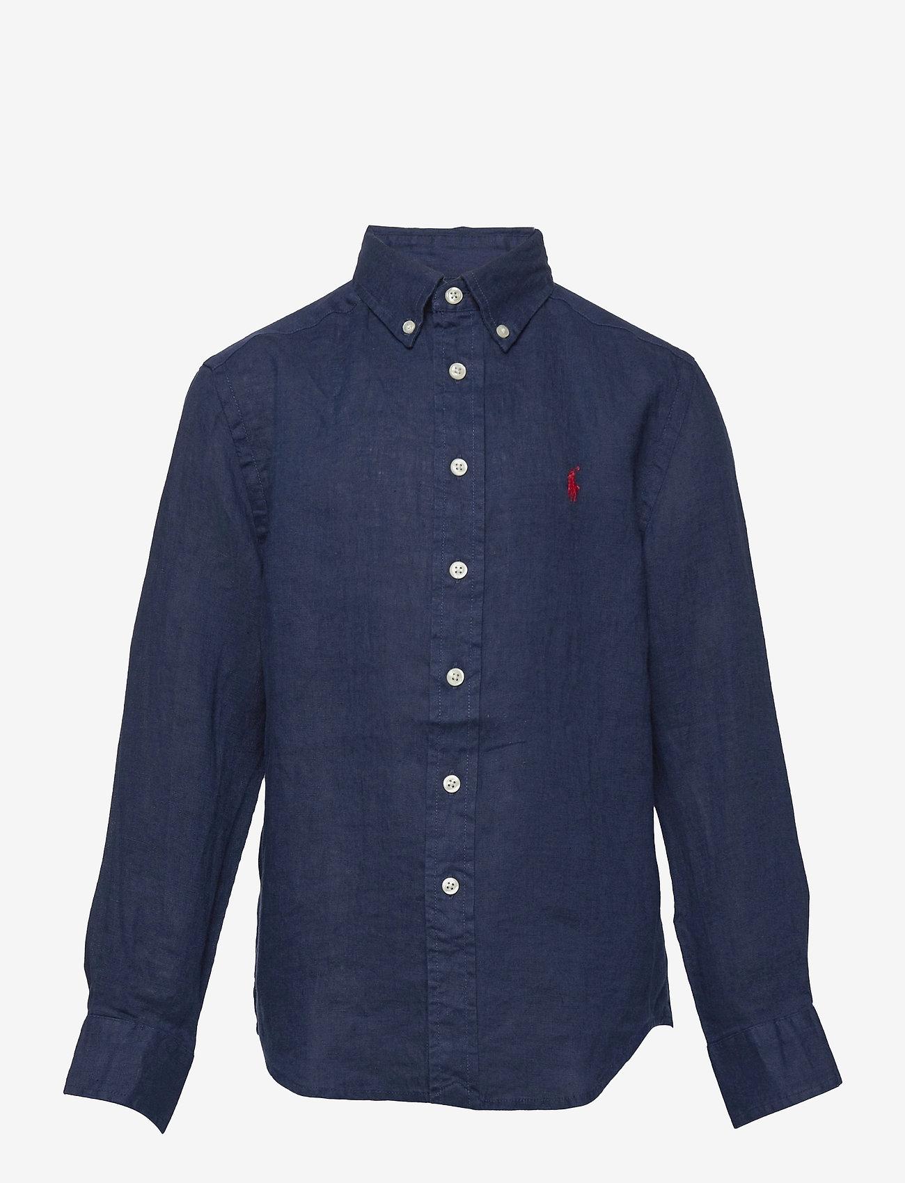 Ralph Lauren Kids - Linen Shirt - shirts - newport navy - 0