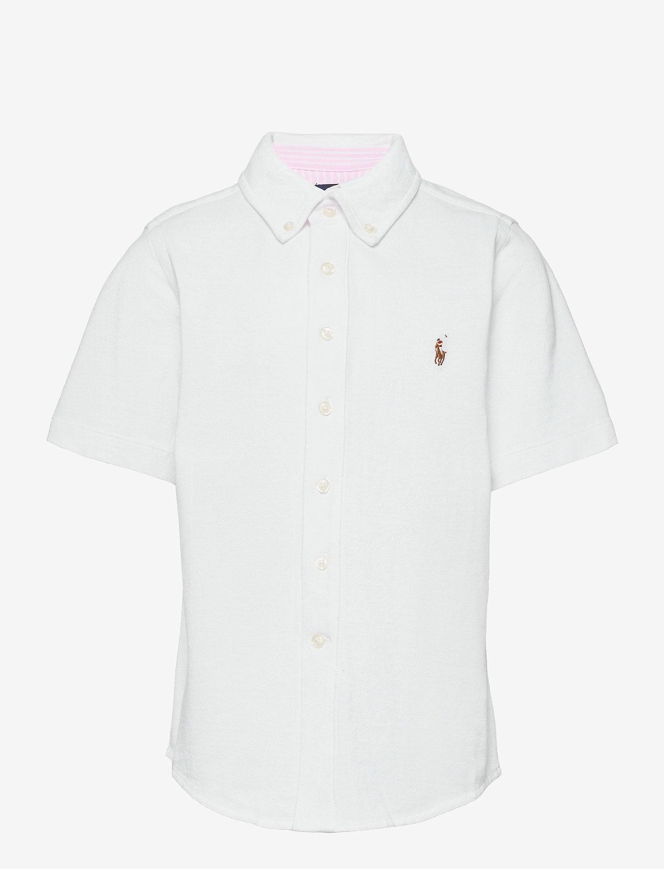 Ralph Lauren Kids - Knit Cotton Oxford Shirt - shirts - white - 0