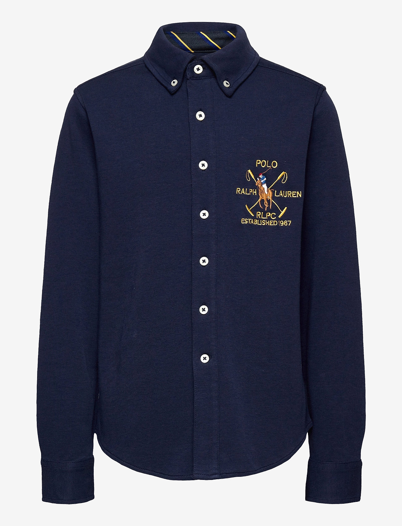 Ralph Lauren Kids - Cotton Interlock Shirt - overhemden - newport navy - 0