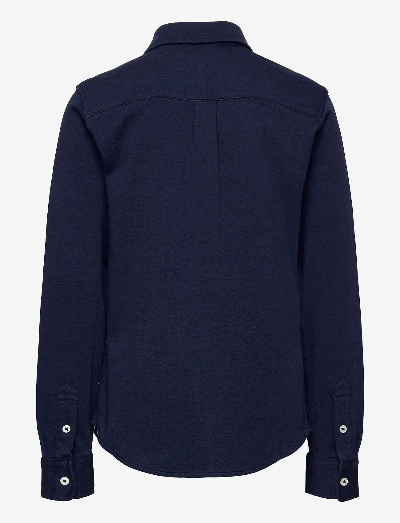 Ralph Lauren Kids - Cotton Interlock Shirt - overhemden - newport navy - 1