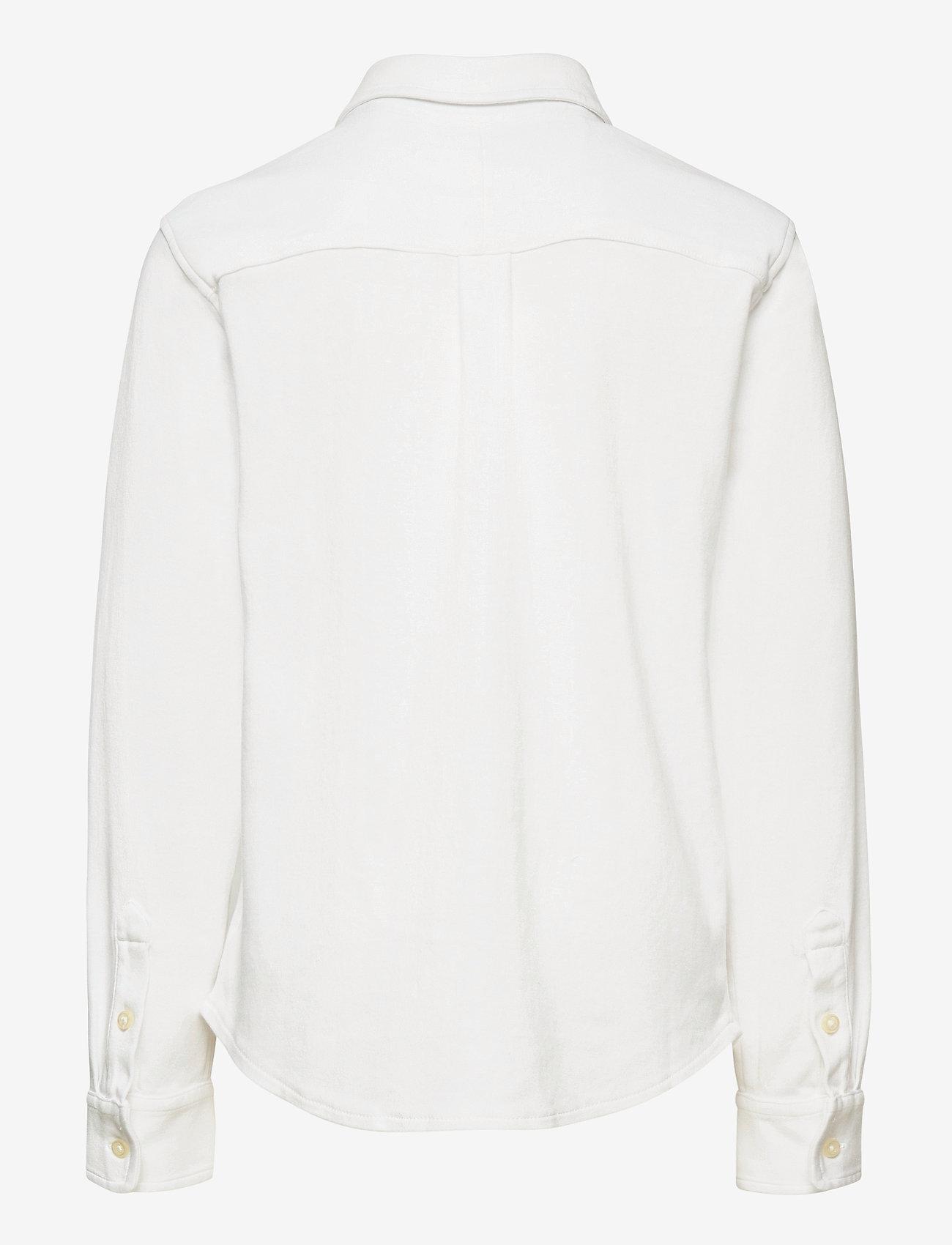 Ralph Lauren Kids - Cotton Interlock Shirt - overhemden - white - 1