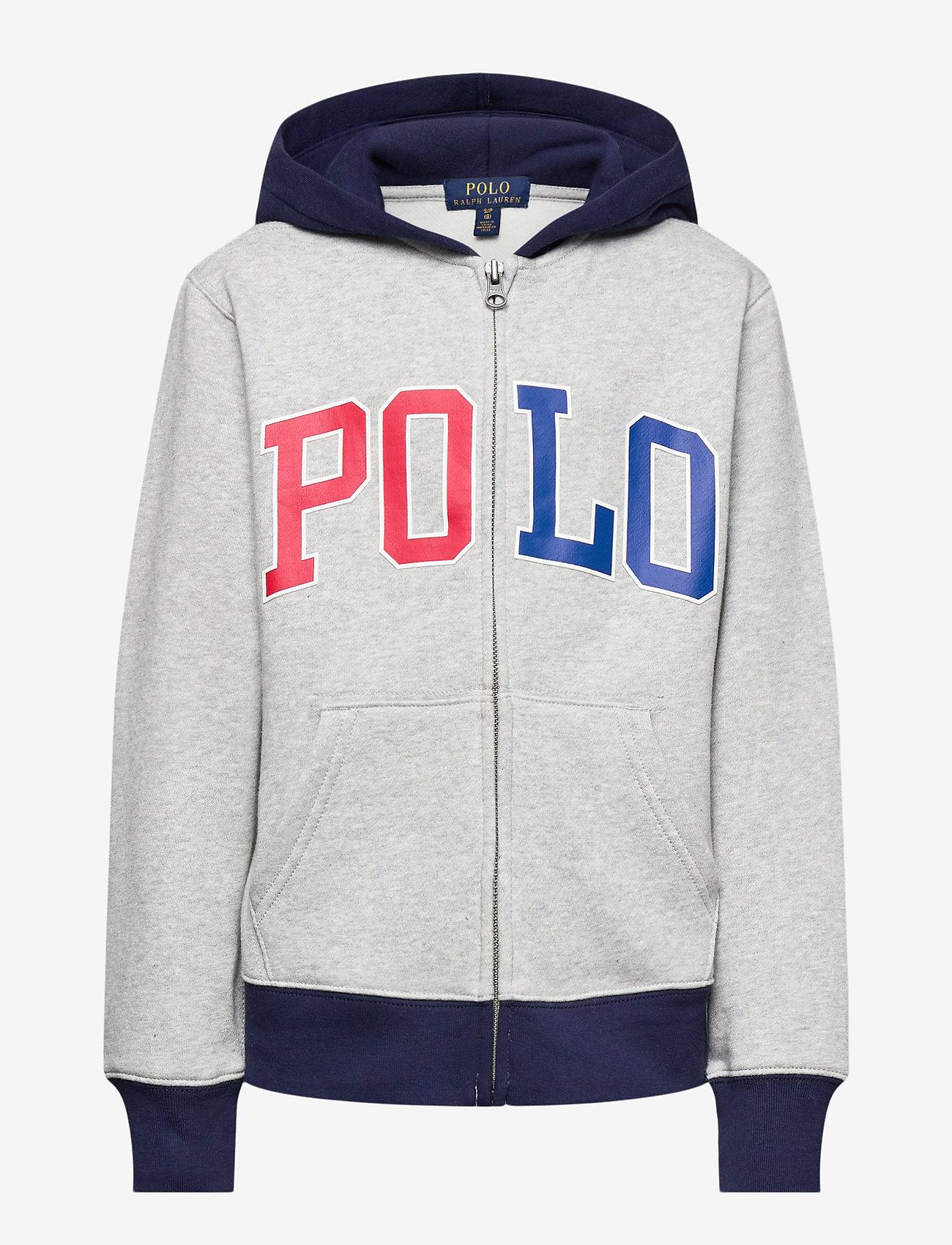 Ralph Lauren Kids - Logo Fleece Full-Zip Hoodie - pulls à capuche - andover heather - 0