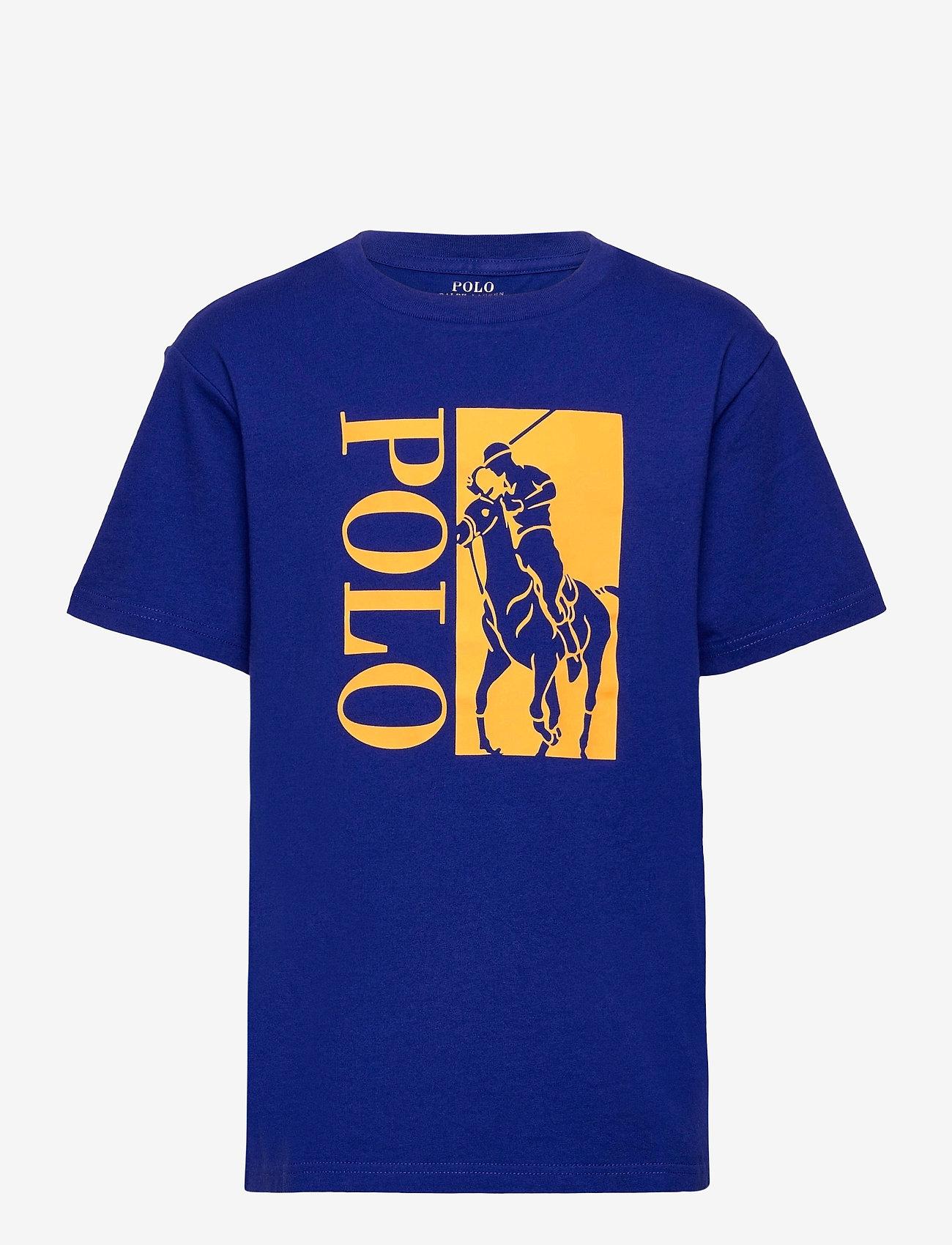 Ralph Lauren Kids - Big Pony Logo Cotton Jersey Tee - short-sleeved - heritage royal - 0
