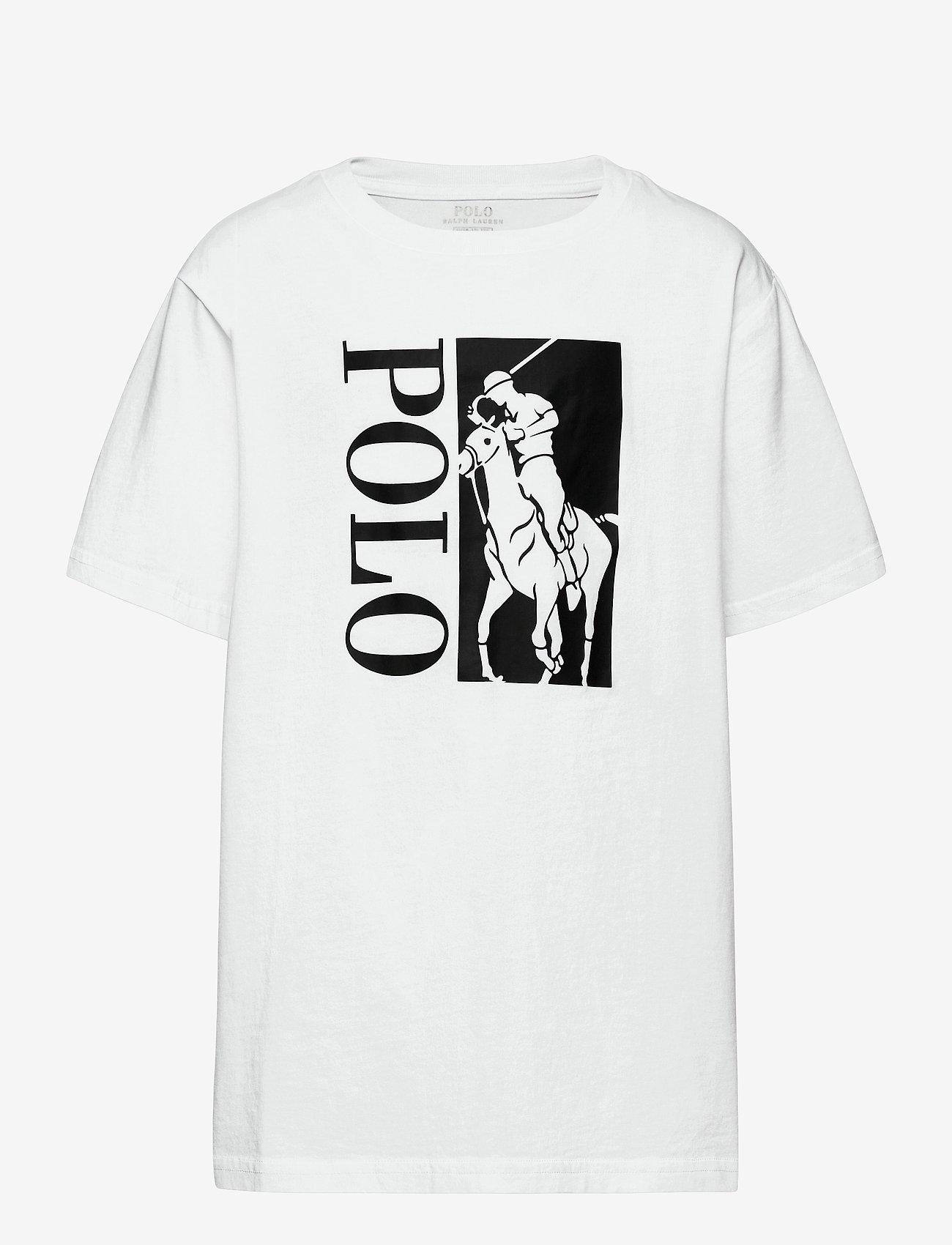 Ralph Lauren Kids - Big Pony Logo Cotton Jersey Tee - short-sleeved - white - 0