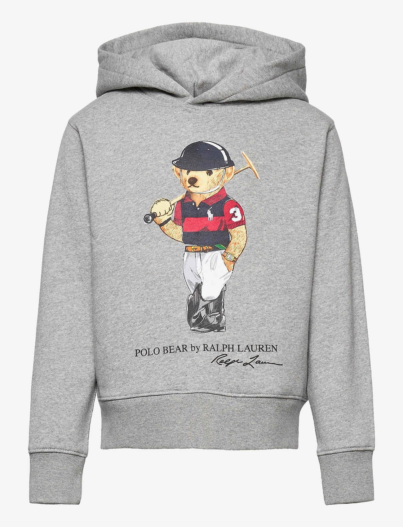 Ralph Lauren Kids - Polo Bear Fleece Hoodie - pulls à capuche - andover heather - 0