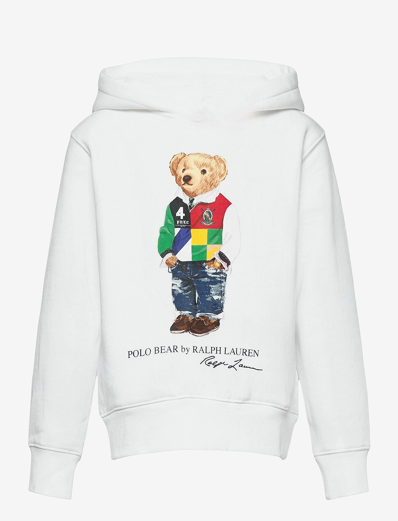 Ralph Lauren Kids - Polo Bear Fleece Hoodie - kapuzenpullover - white - 0