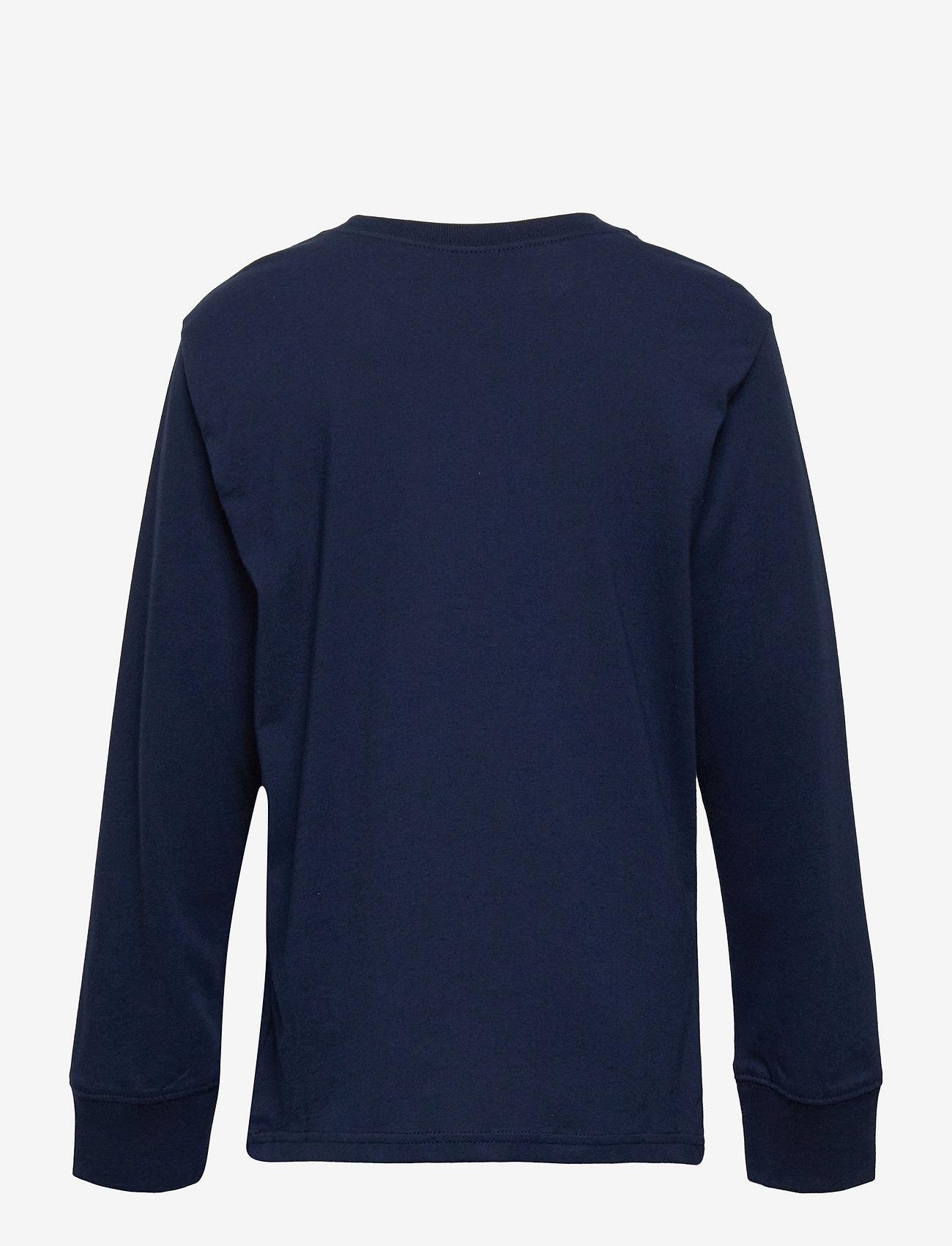 Ralph Lauren Kids - Logo Cotton Jersey Tee - long-sleeved t-shirts - cruise navy - 1
