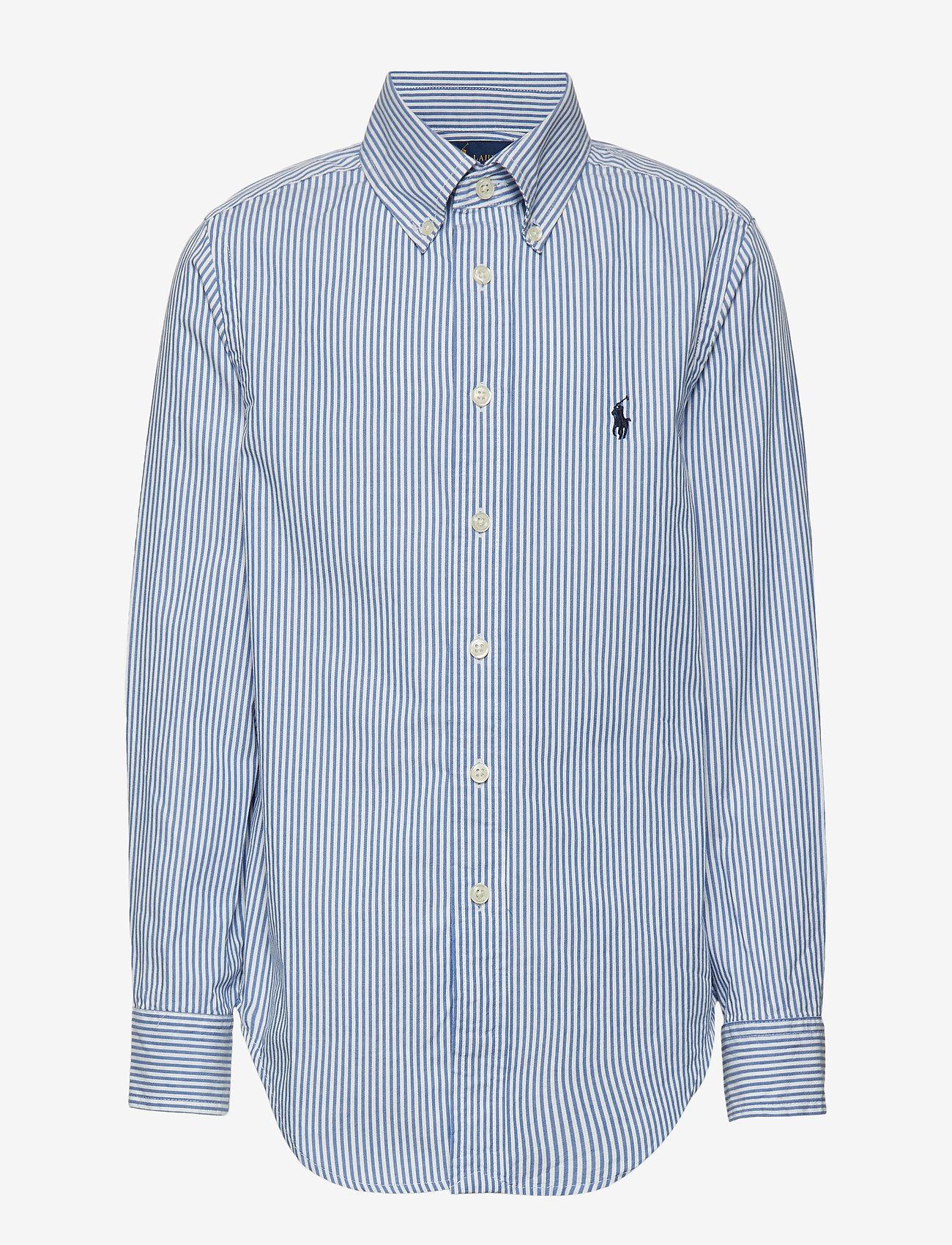 Ralph Lauren Kids - CUSTOM FIT BLAKE SHIRT - overhemden - bsr blue/wht - 0