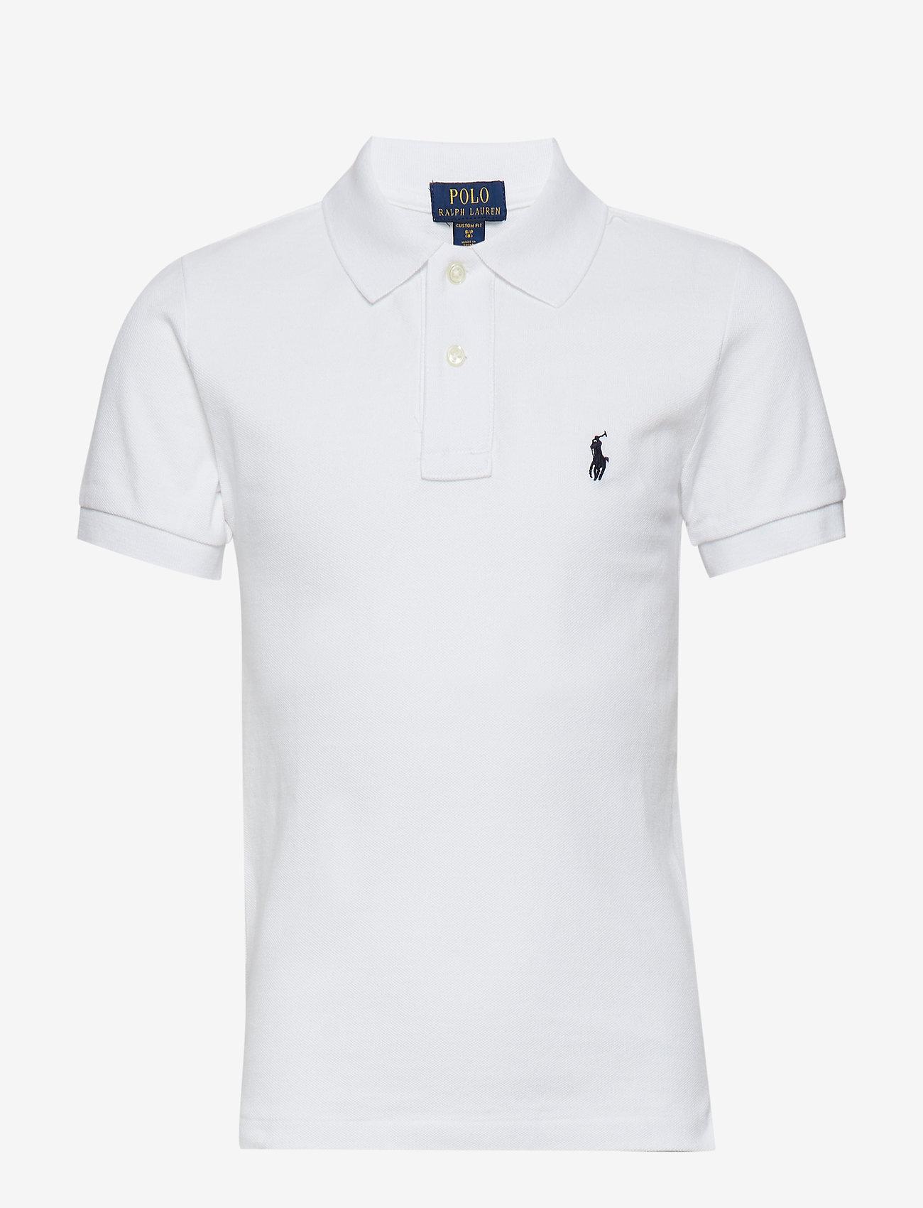 Ralph Lauren Kids - Custom Fit Cotton Mesh Polo - polo shirts - white - 0