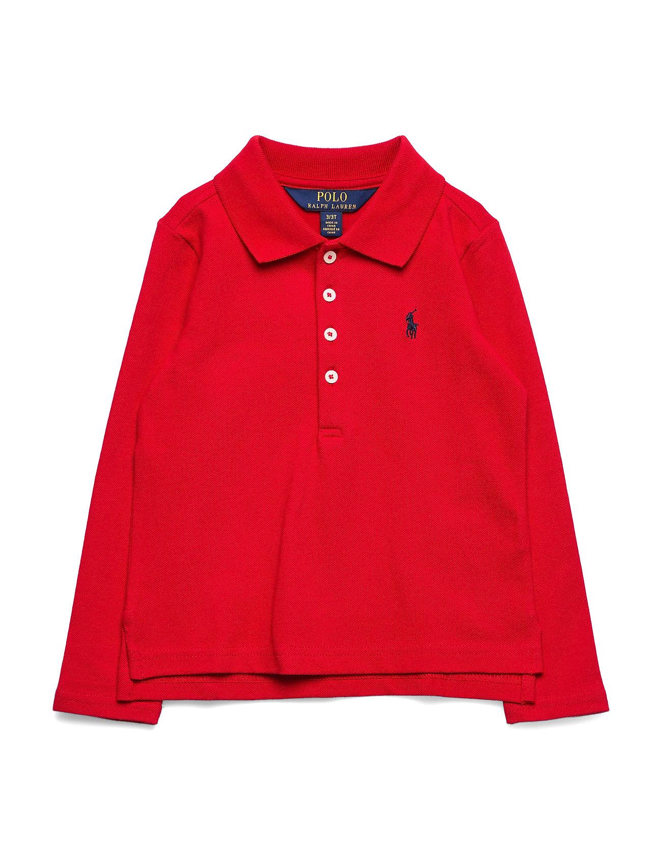 Ralph Lauren Kids Stretch Cotton Mesh Polo Shirt - RL 2000 RED