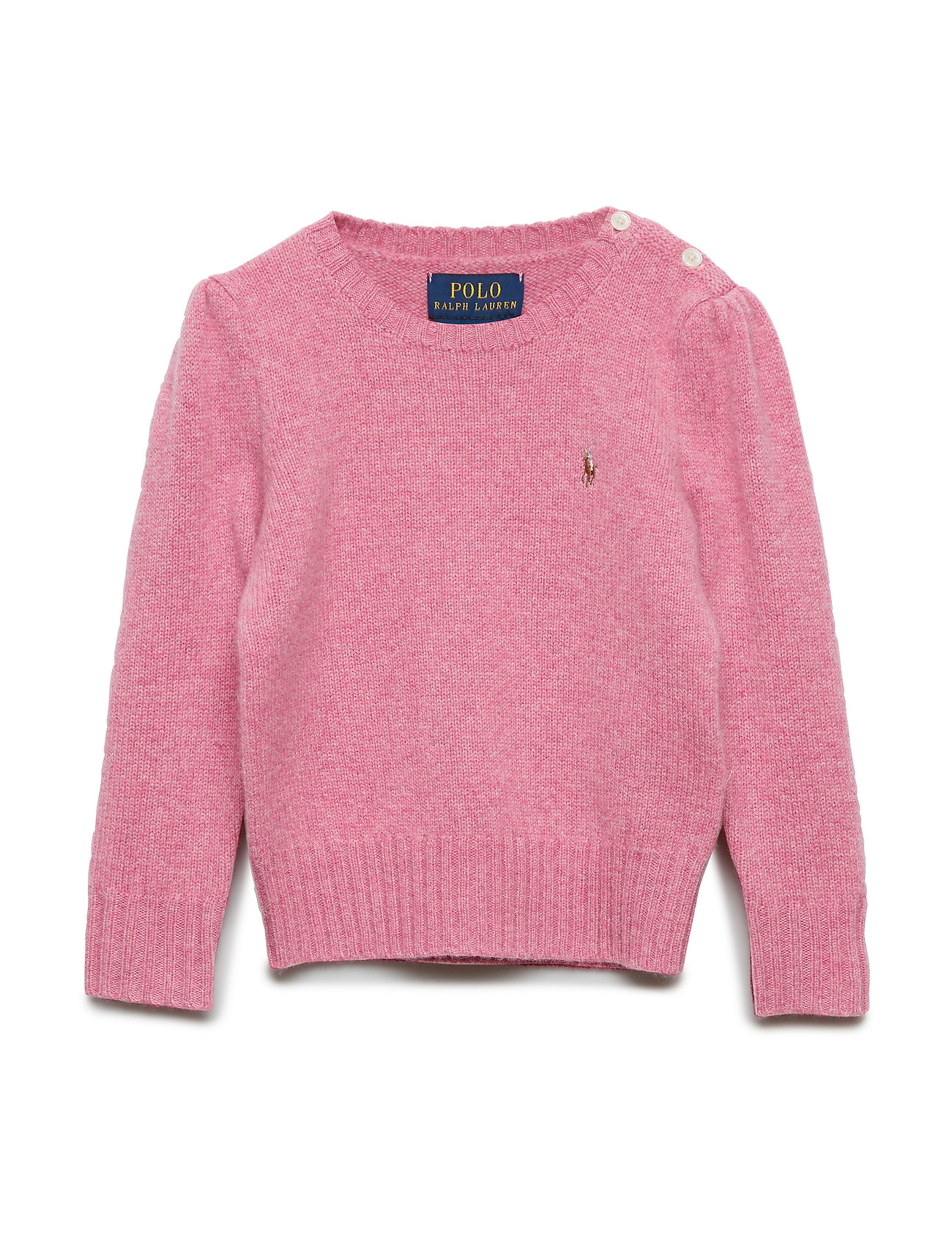 Ralph Lauren Kids Wool-Cashmere Crewneck Sweater - WINE ROSE HEATHER