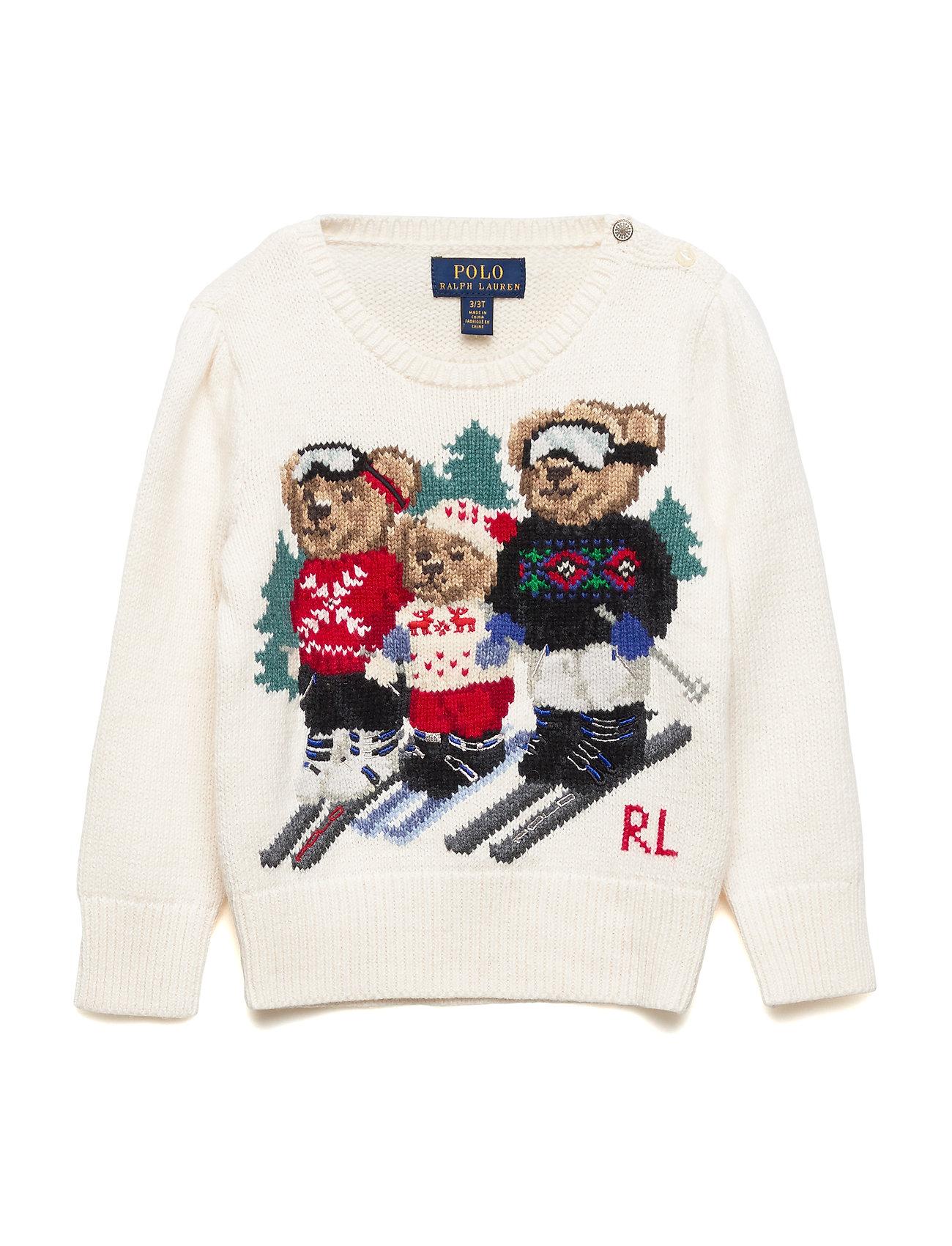 Ralph Lauren Kids BEAR FAMILY-TOPS-SWEATER - CLUBHOUSE CREAM