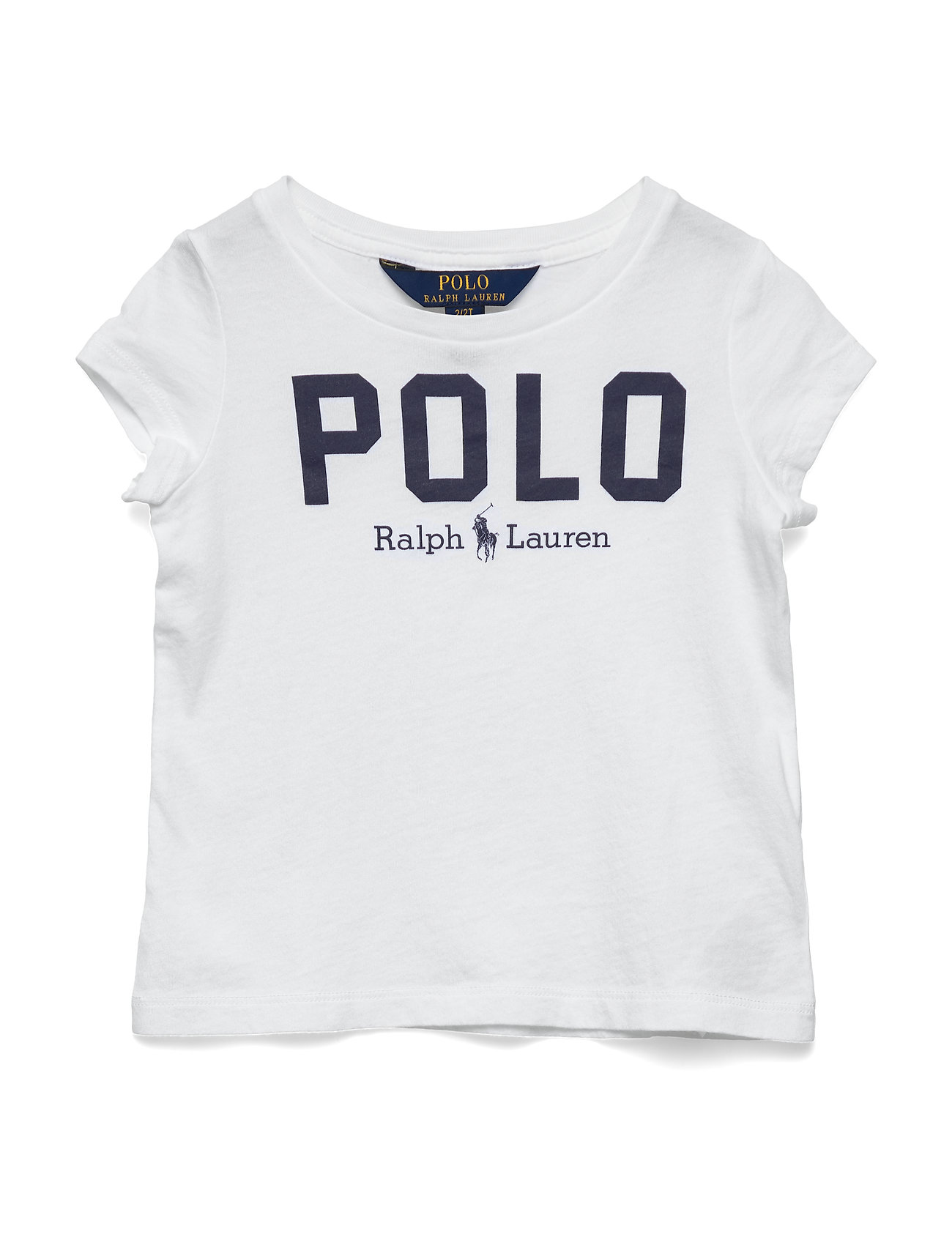 Ralph Lauren Kids Polo Cotton Jersey Tee - WHITE