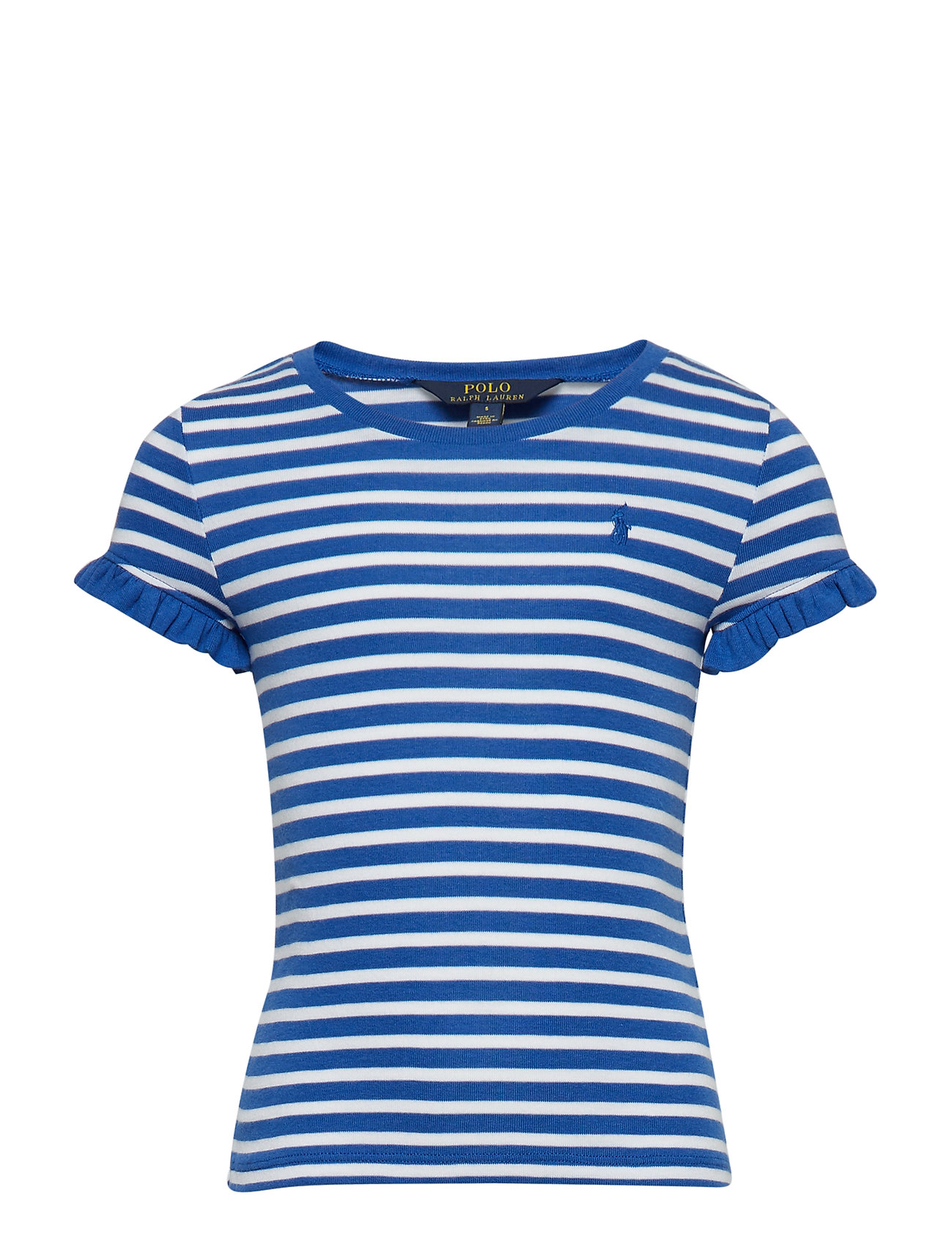 Ralph Lauren Kids COTTON MODAL-STRIPE TEE-TP-KNT