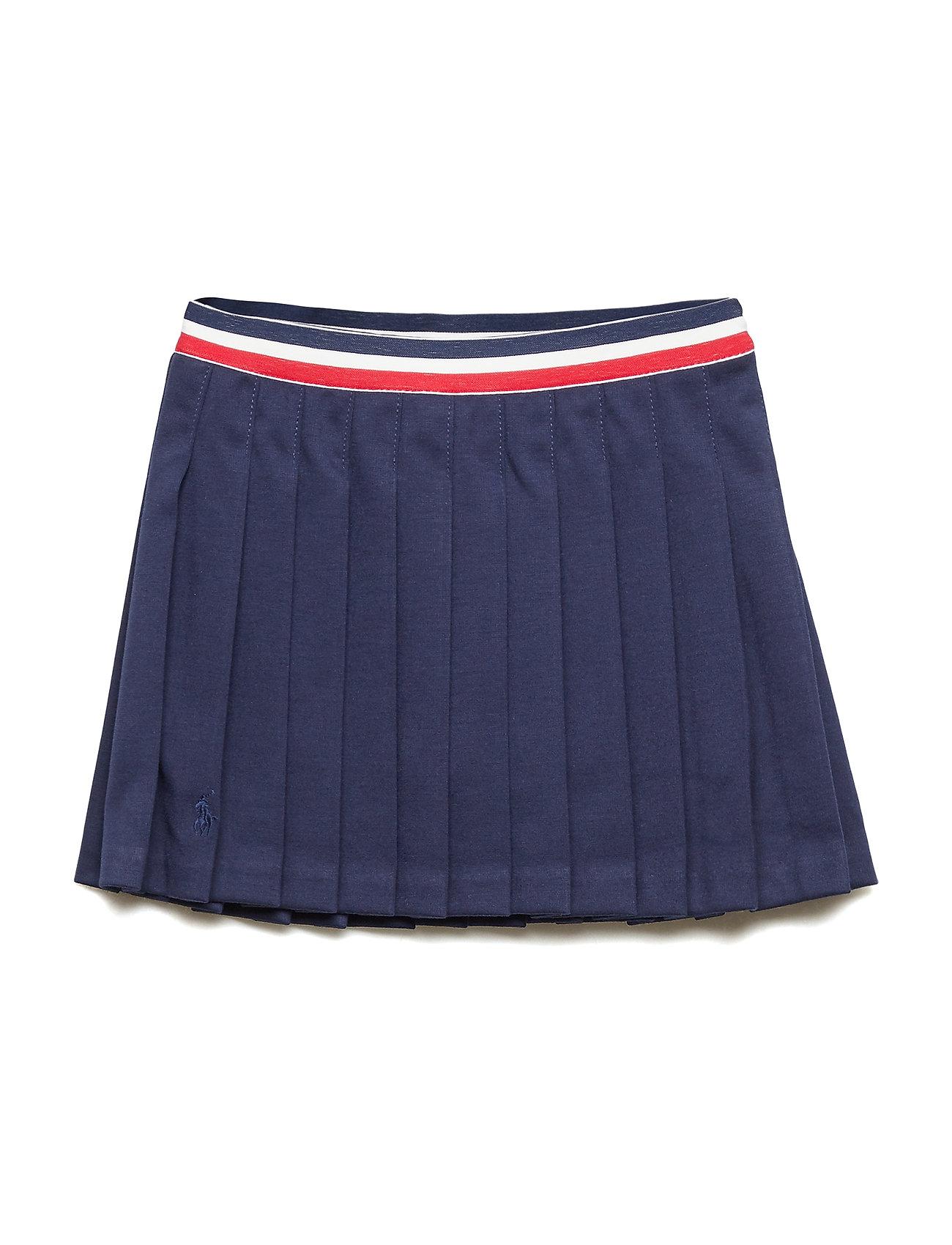 Ralph Lauren Kids Pleated Ponte Skirt - FRENCH NAVY