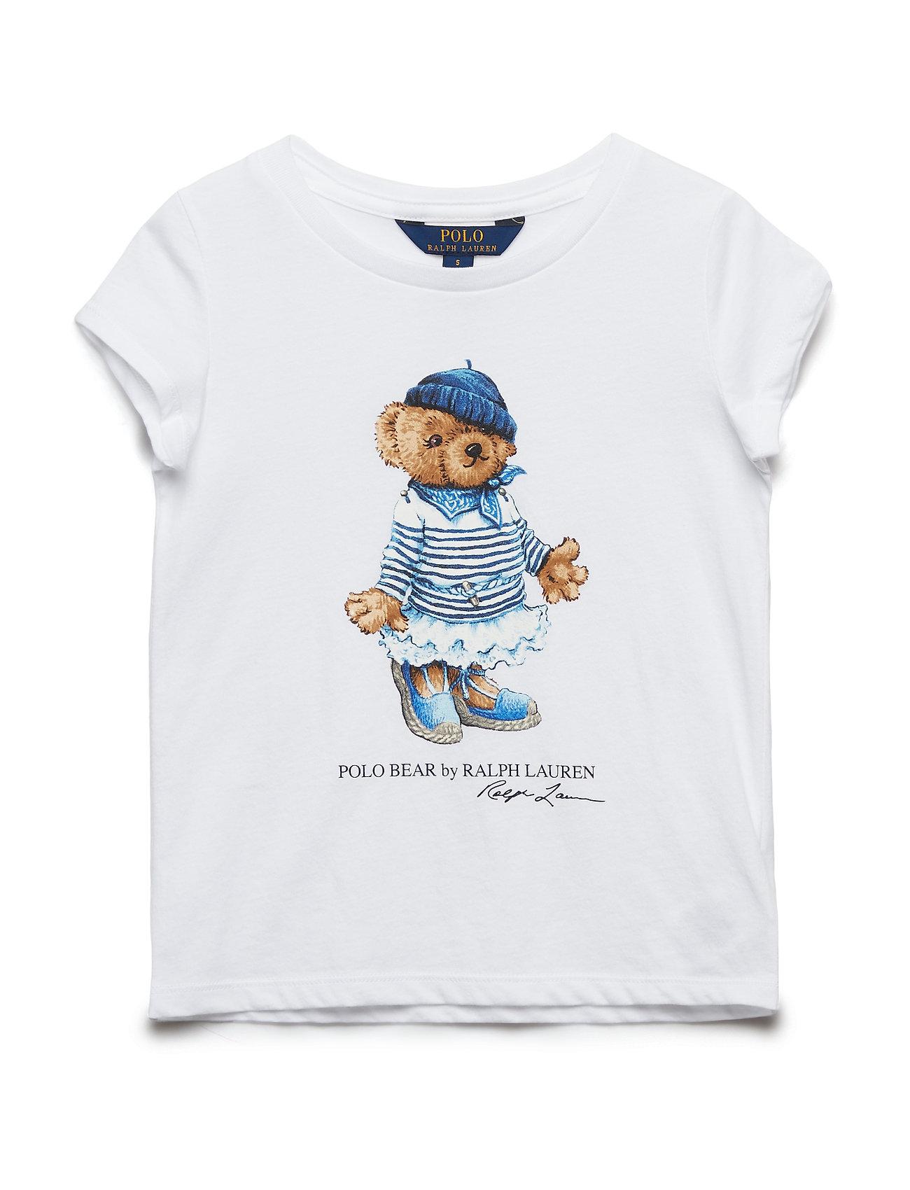 Ralph Lauren Kids Marseilles Bear Cotton Tee - WHITE