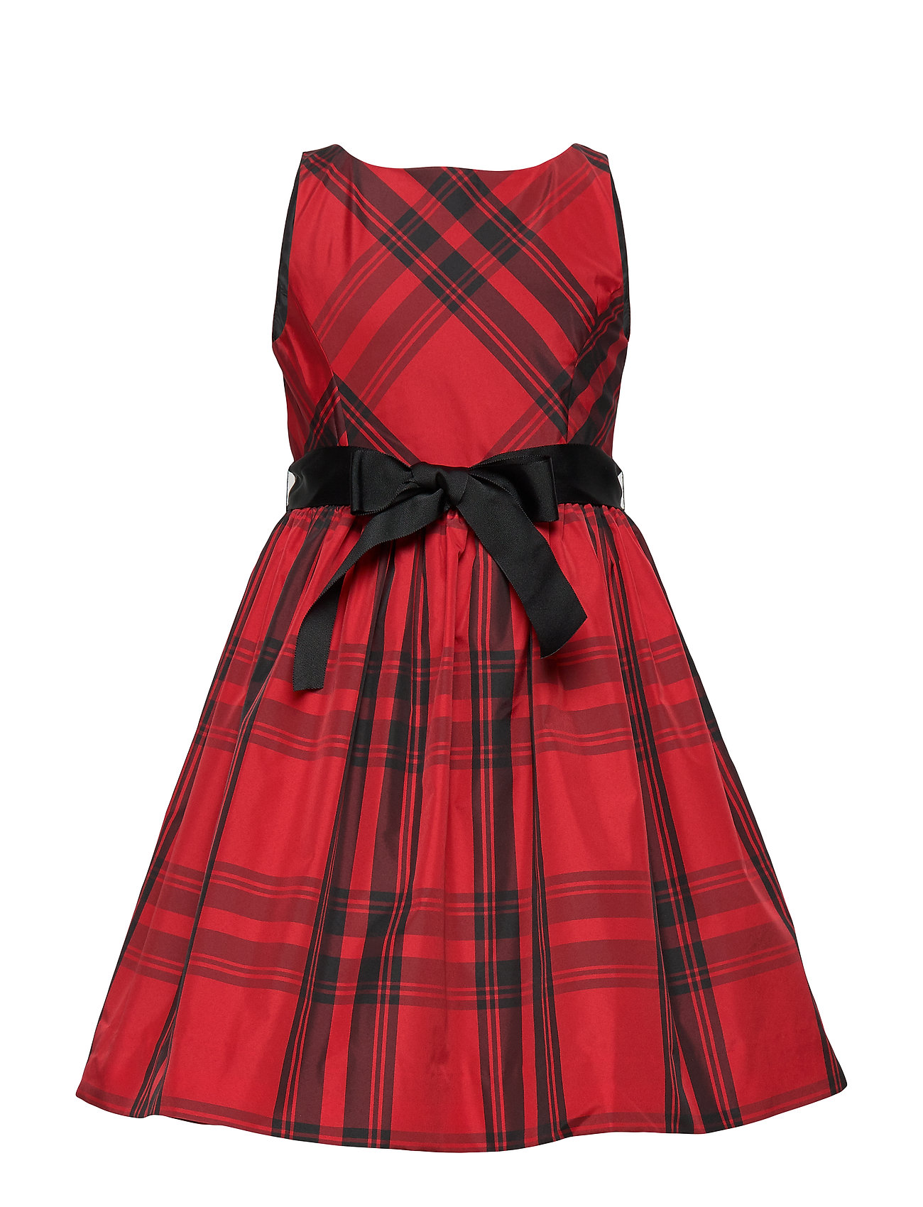 Ralph Lauren Kids PLAID TAFFET-DRESSES-WOVEN - RED AND BLACK
