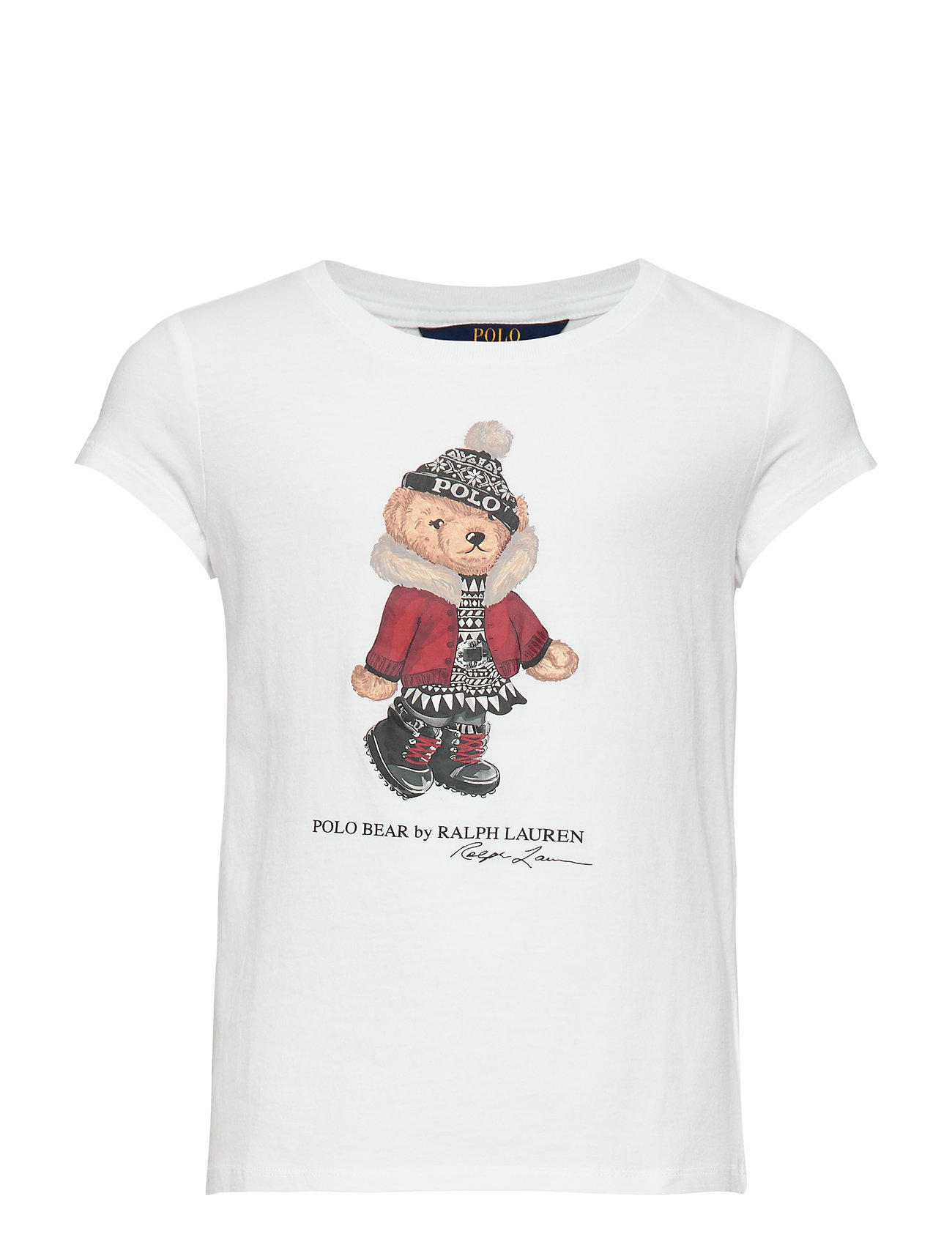 Ralph Lauren Kids SS GRAPHIC-TOPS-T-SHIRT - WHITE