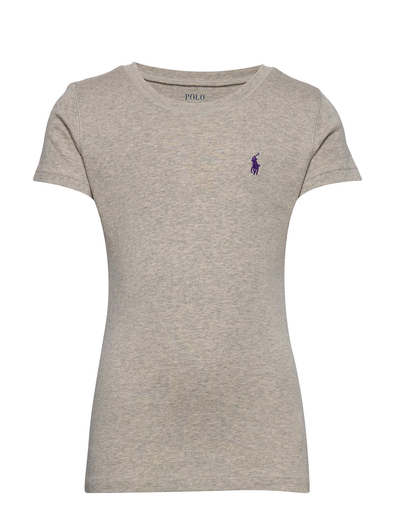 Ralph Lauren Kids Cotton-Blend Crewneck T-Shirt - LT. SPORT HEATHER