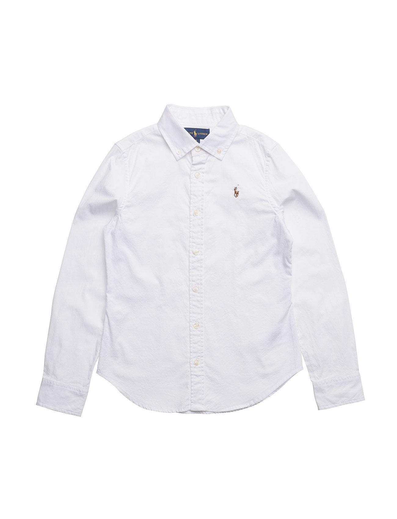 Ralph Lauren Kids LS OXFORD-TOPS-SHIRT - WHITE