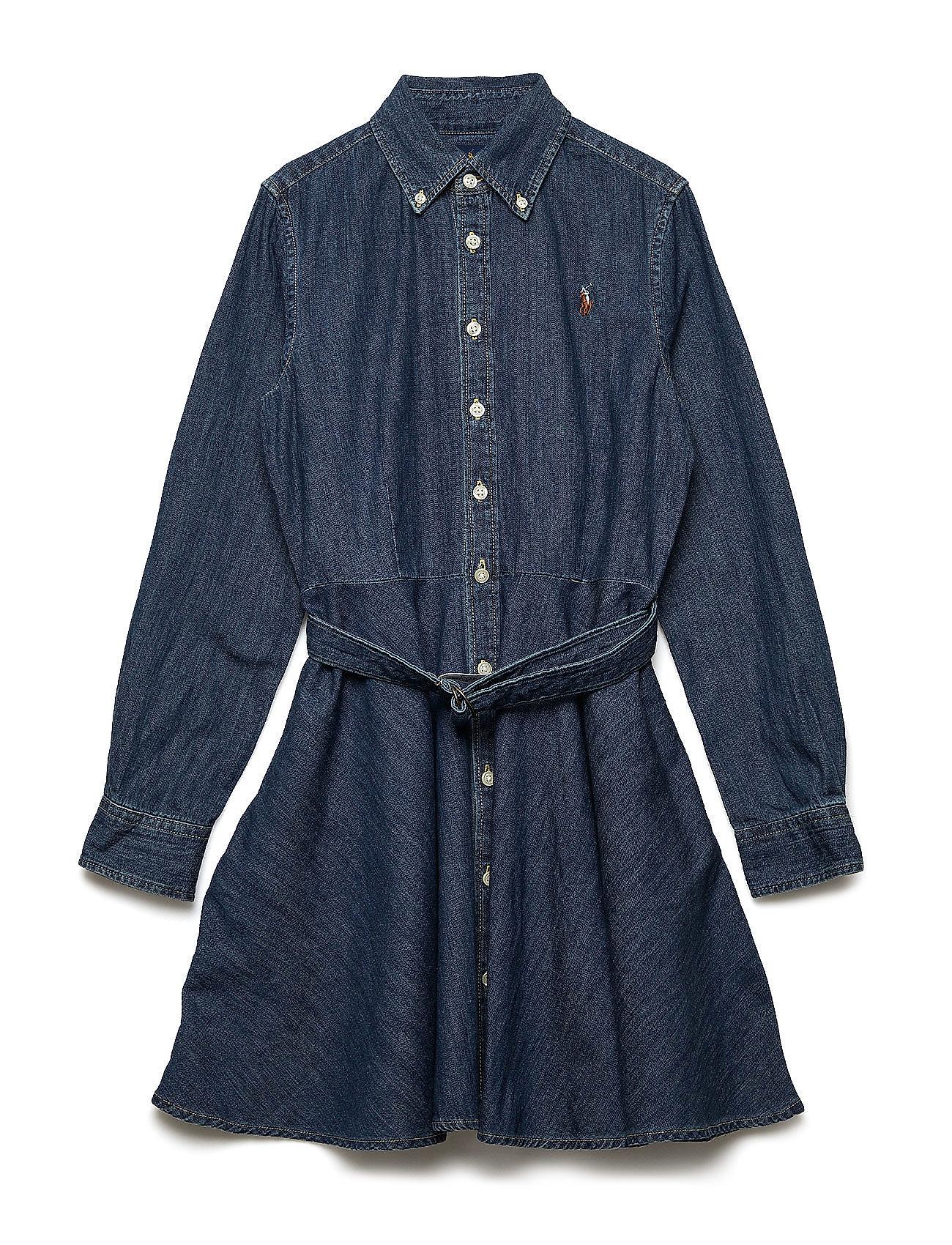 834e20ec23f Belted Cotton Denim Shirtdress (Indigo) (£89) - Ralph Lauren Kids ...