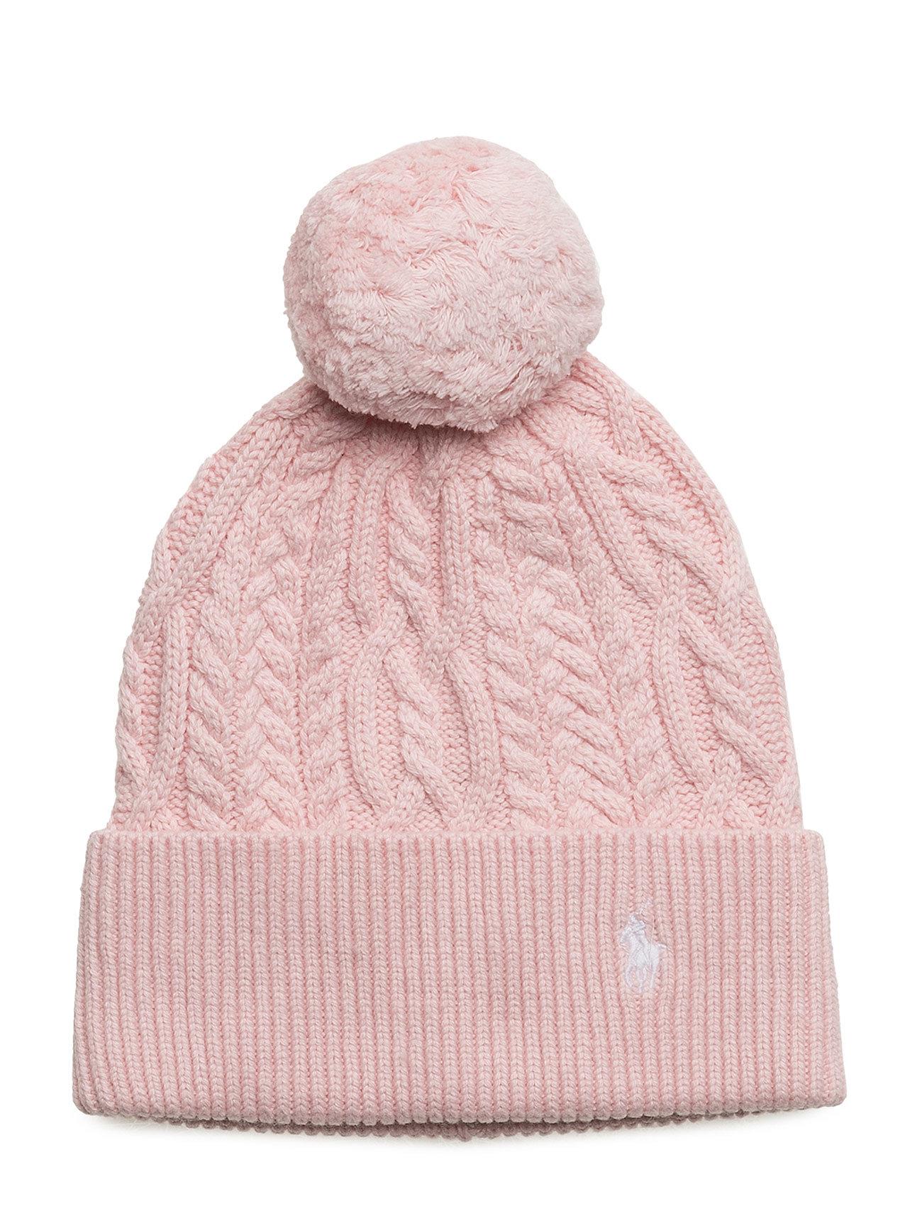 4f3b2be87d4 Aran-knit Pom-pom Hat (Hint Of Pink) (186.75 zł) - Ralph Lauren Kids ...
