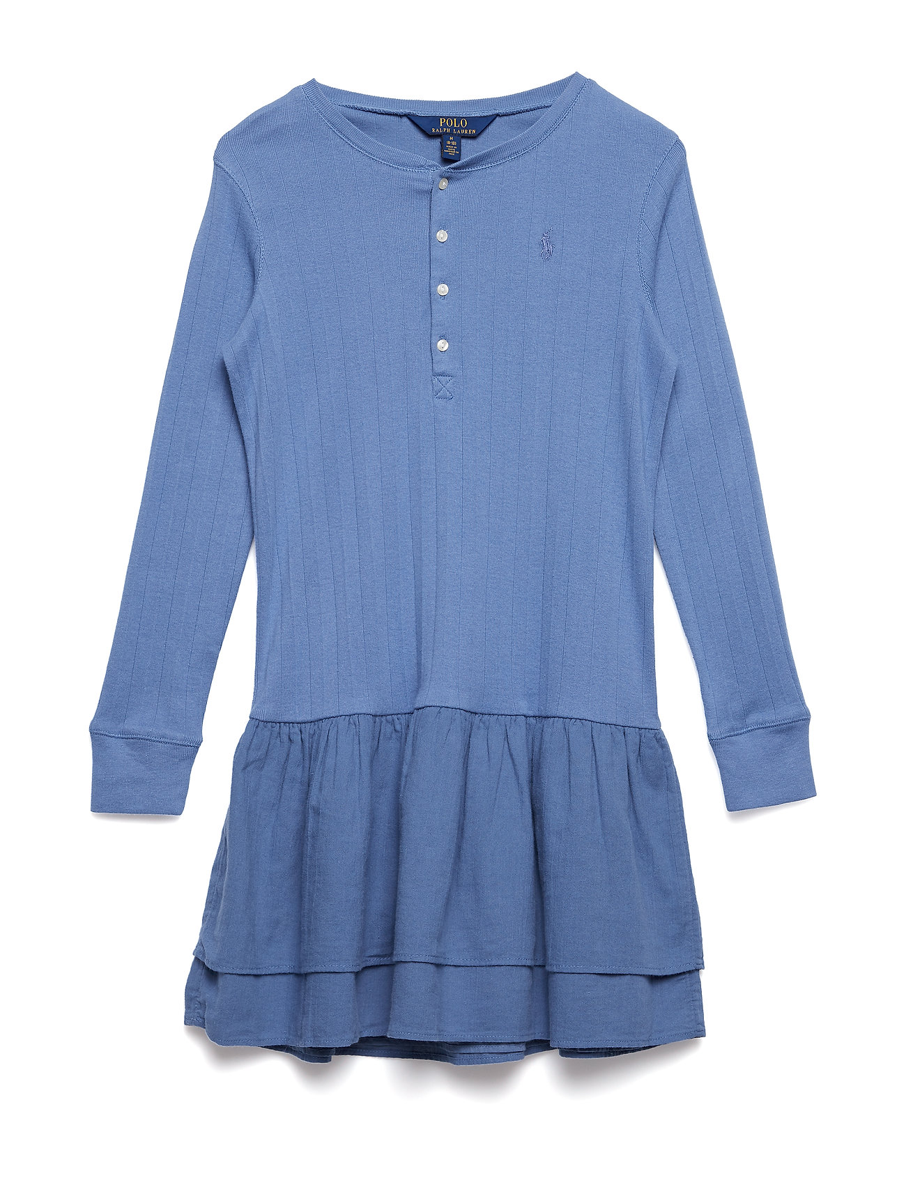 Ralph Lauren Kids COTTON RIB-KNIT TO WVEN-DR-KNT