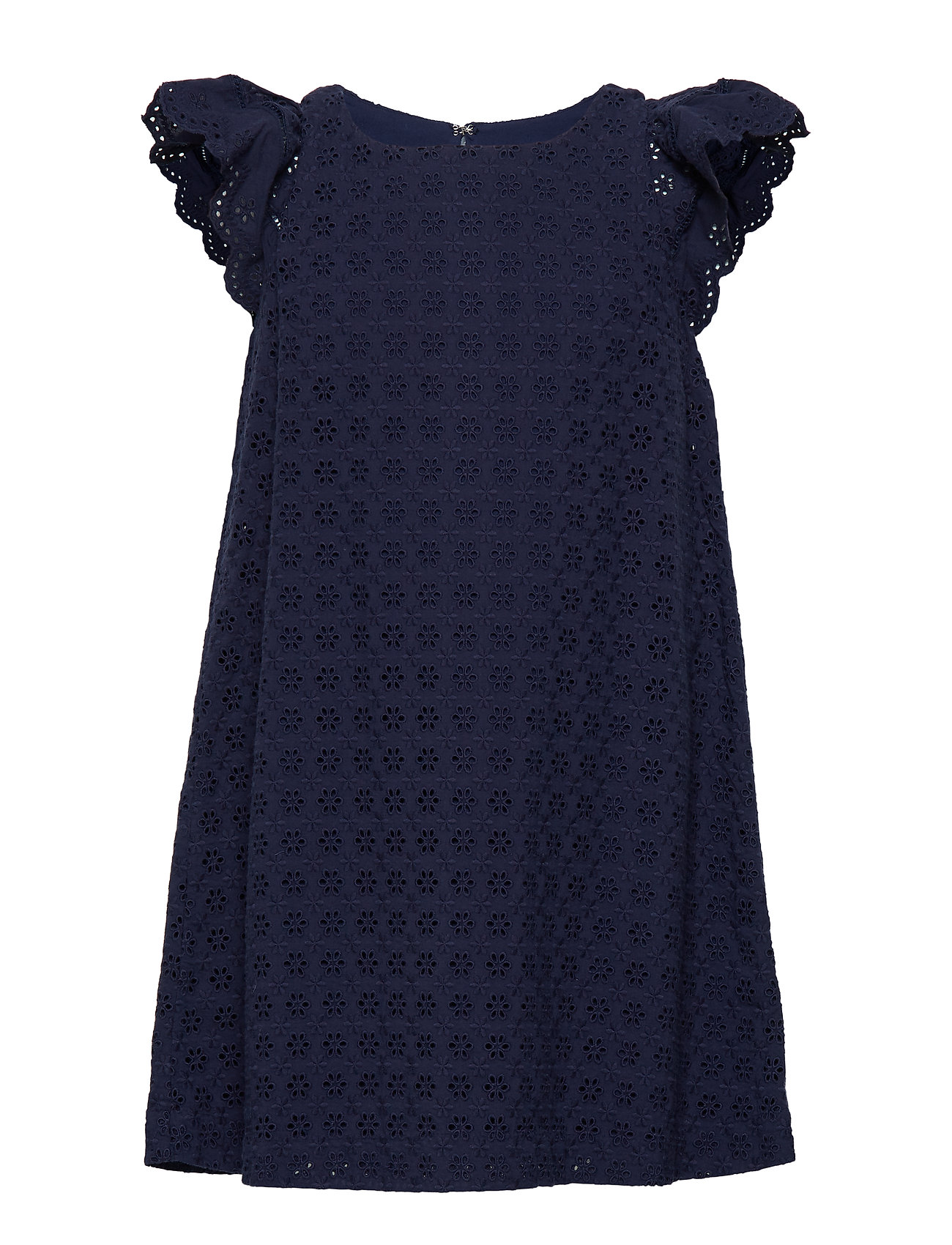 Ralph Lauren Kids COTTON EYELET-EYELET DRESS-DR-WVN - FRENCH NAVY